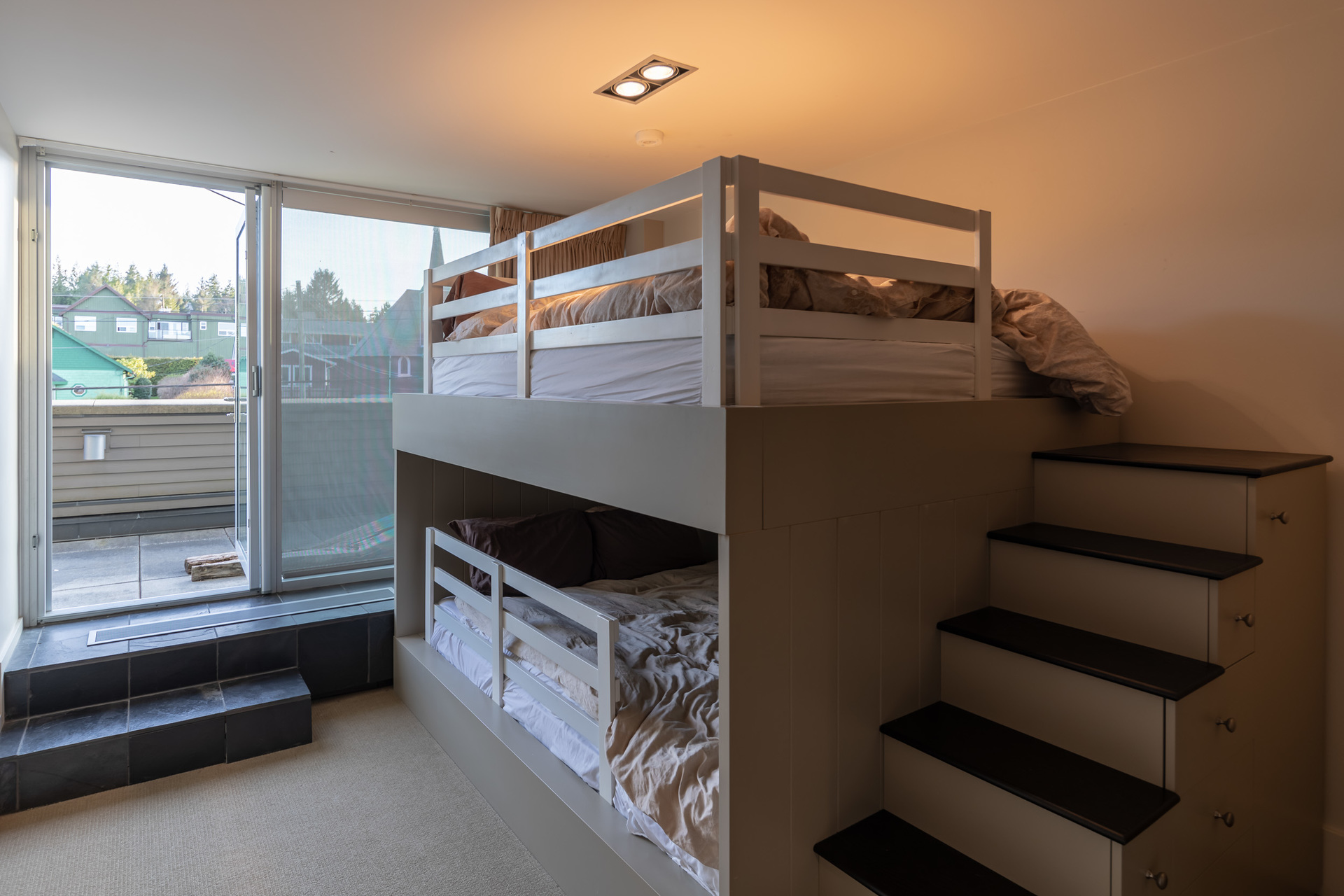 Guest Bedroom With Walkout Balcony at 401 - 368 Main Street, Tofino Tofino, Vancouver Island
