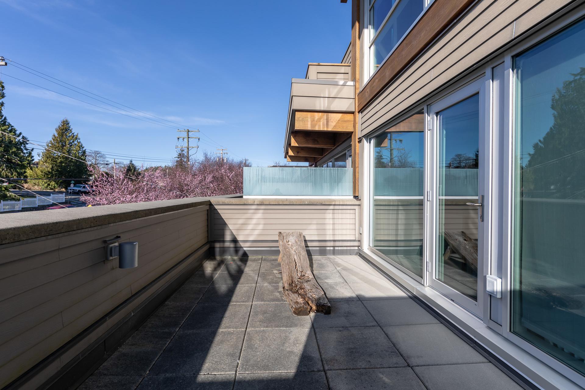 Master Balcony at 401 - 368 Main Street, Tofino, Vancouver Island
