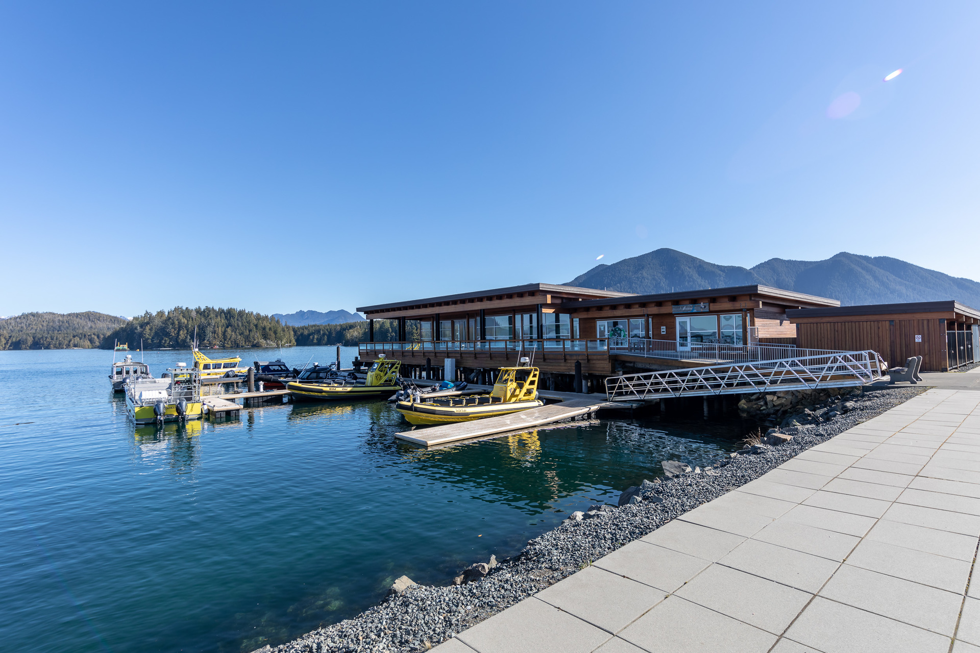 Waterfront At Building Rear at 401 - 368 Main Street, Tofino Tofino, Vancouver Island