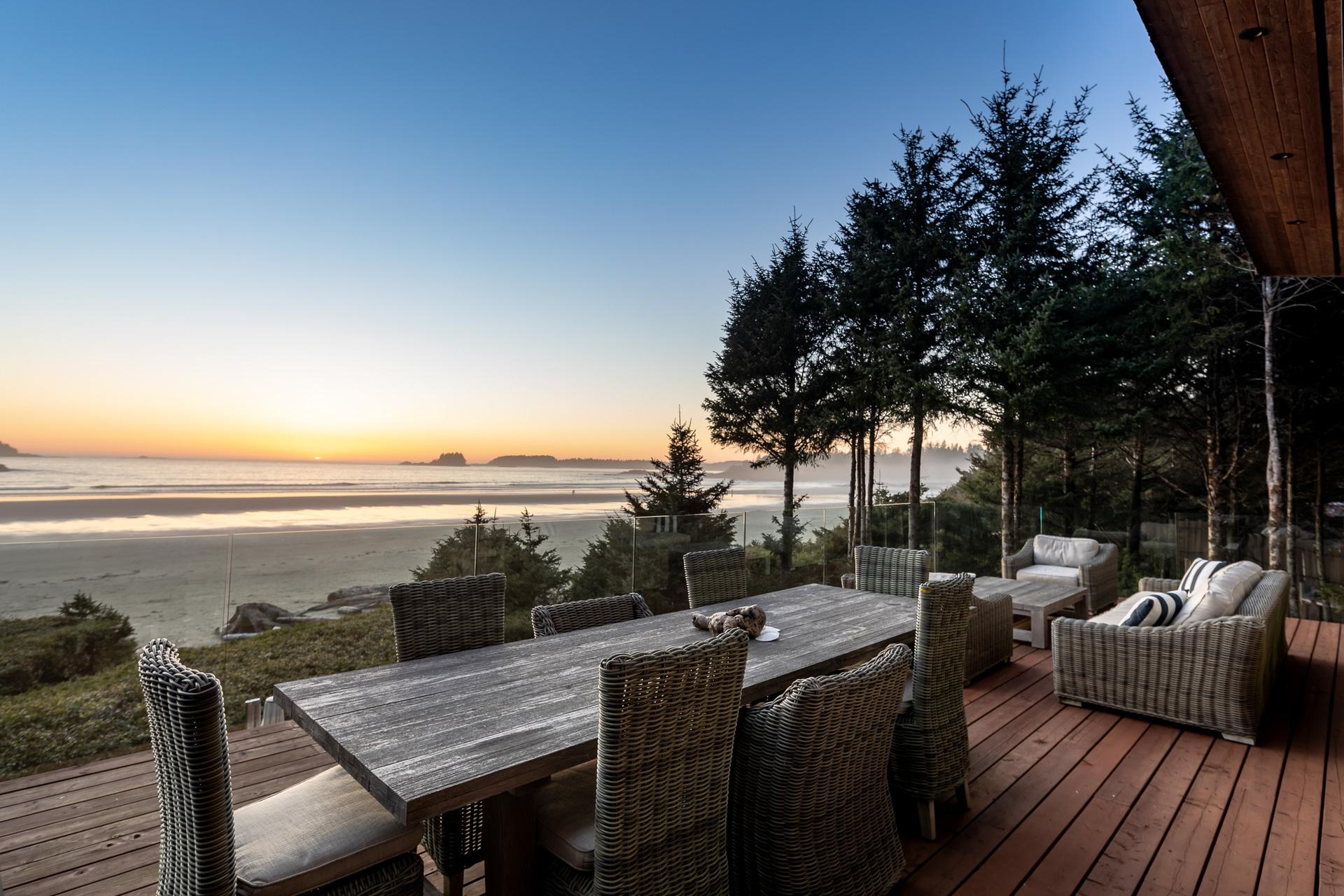 Chesterman Beach From The Upper Balcony at 1277 & 1281 Lynn Road, Tofino Tofino, Vancouver Island