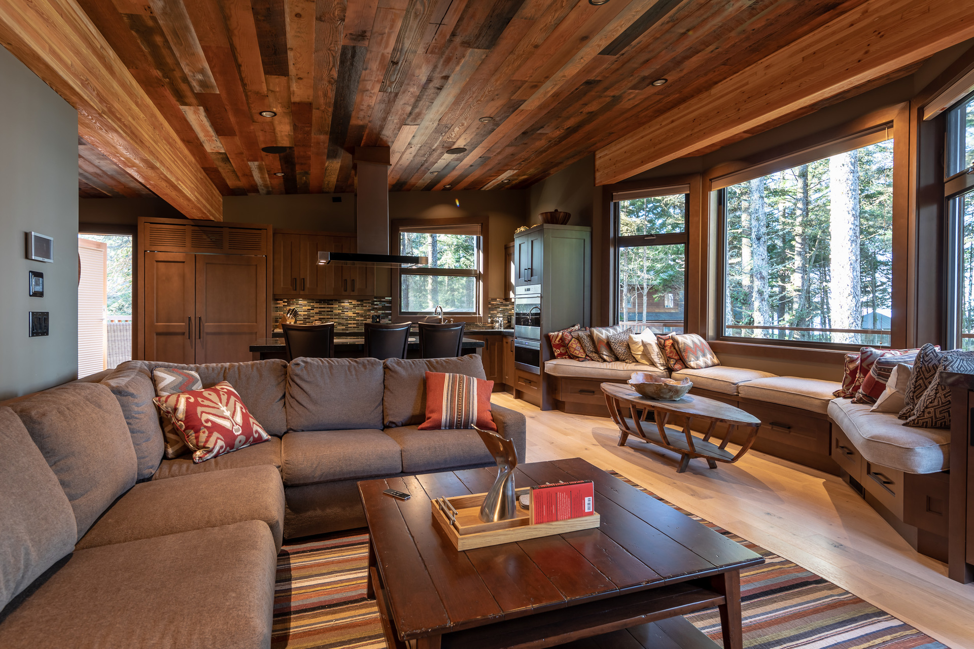 Guest House Living Room at 1277 & 1281 Lynn Road, Tofino Tofino, Vancouver Island