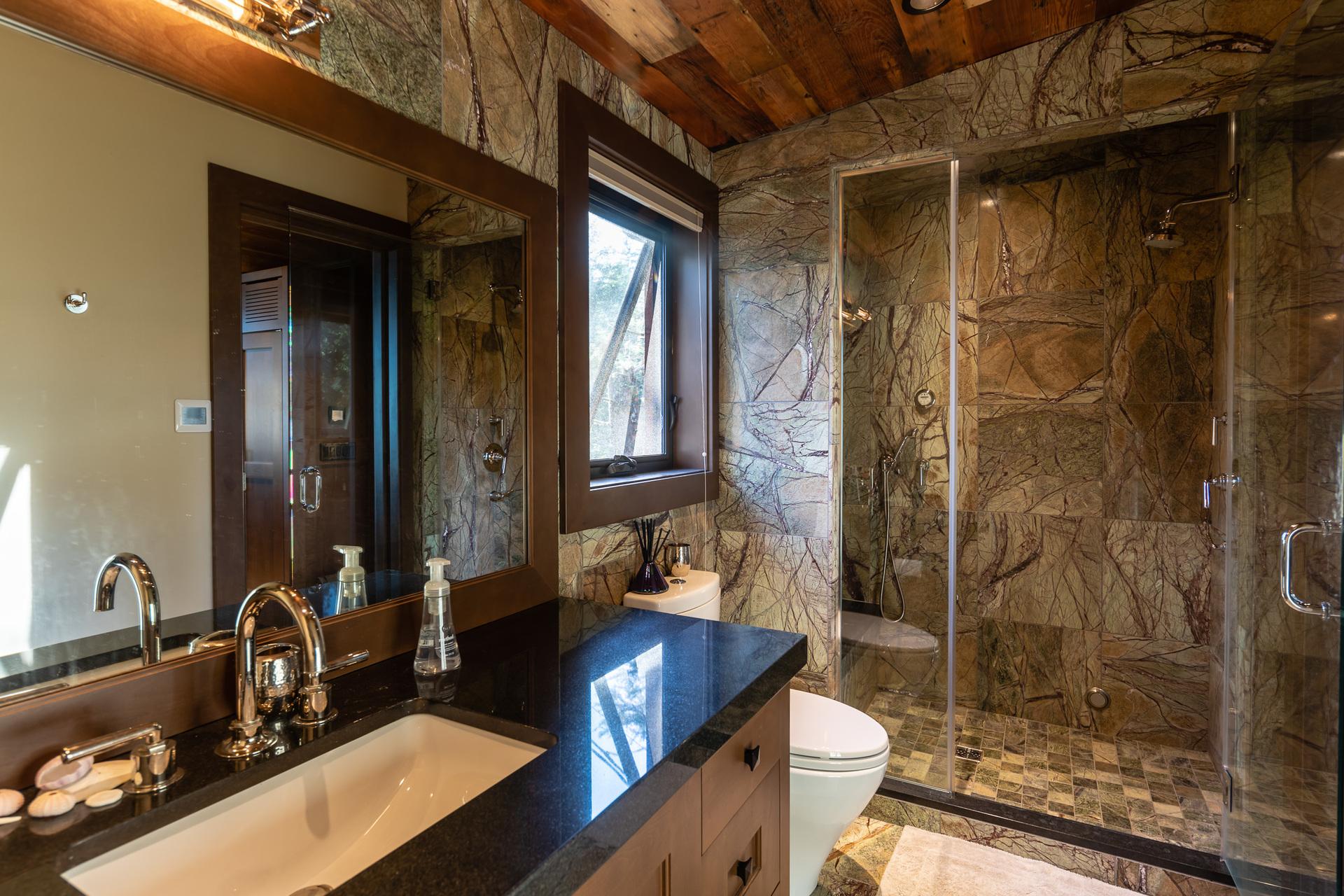 Guest House Bathroom at 1277 & 1281 Lynn Road, Tofino Tofino, Vancouver Island