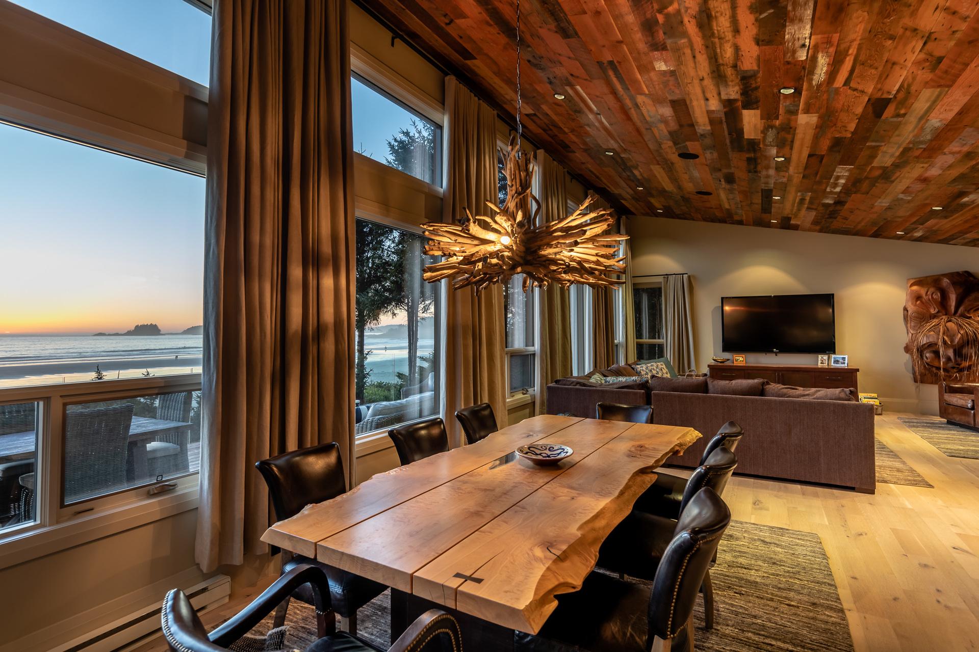 Main Living/Dining Room at 1277 & 1281 Lynn Road, Tofino Tofino, Vancouver Island