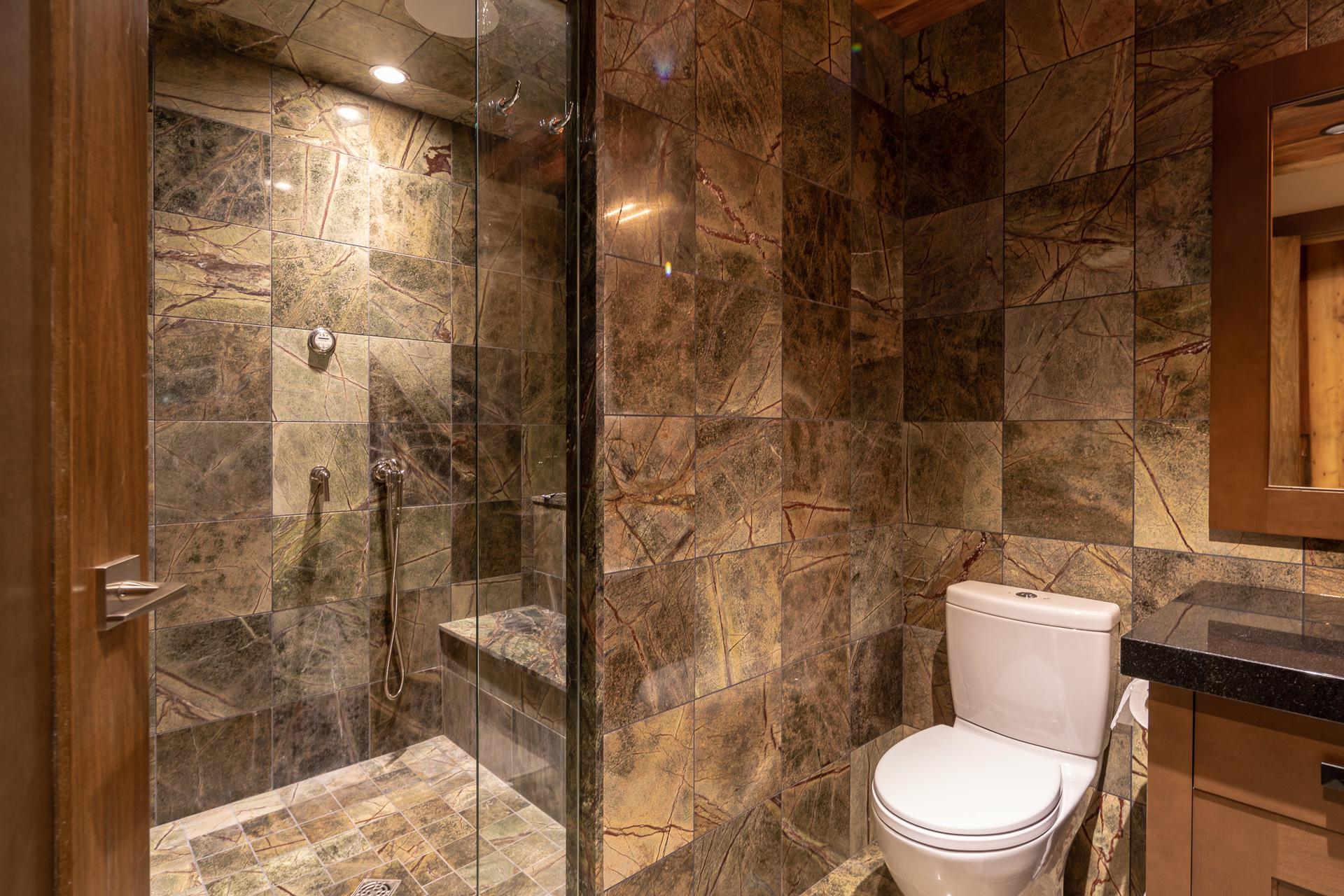 Gym Bathroom at 1277 & 1281 Lynn Road, Tofino Tofino, Vancouver Island