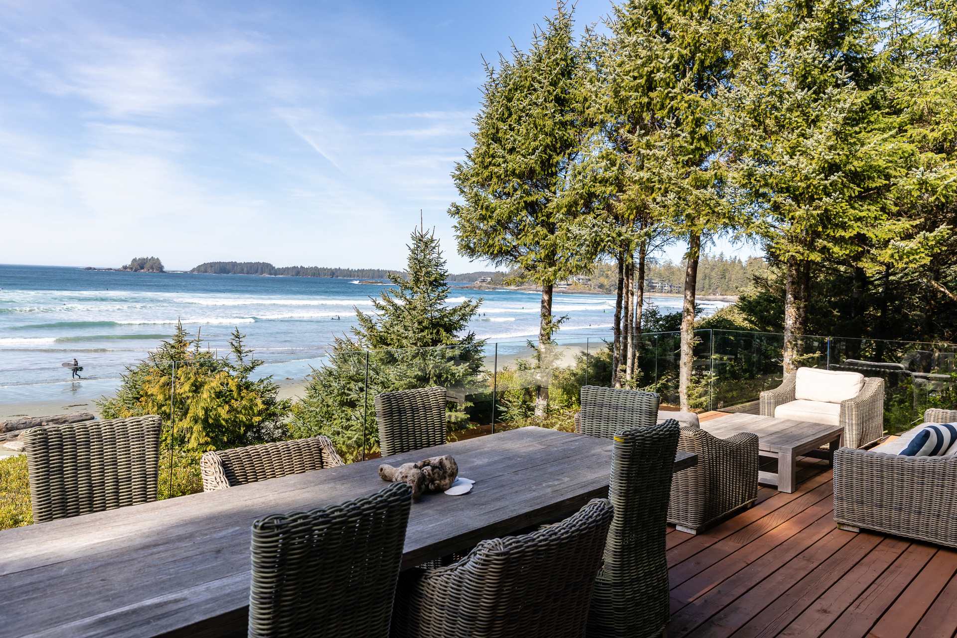 Beach Views From The Upper Sundeck at 1277 & 1281 Lynn Road, Tofino, Vancouver Island