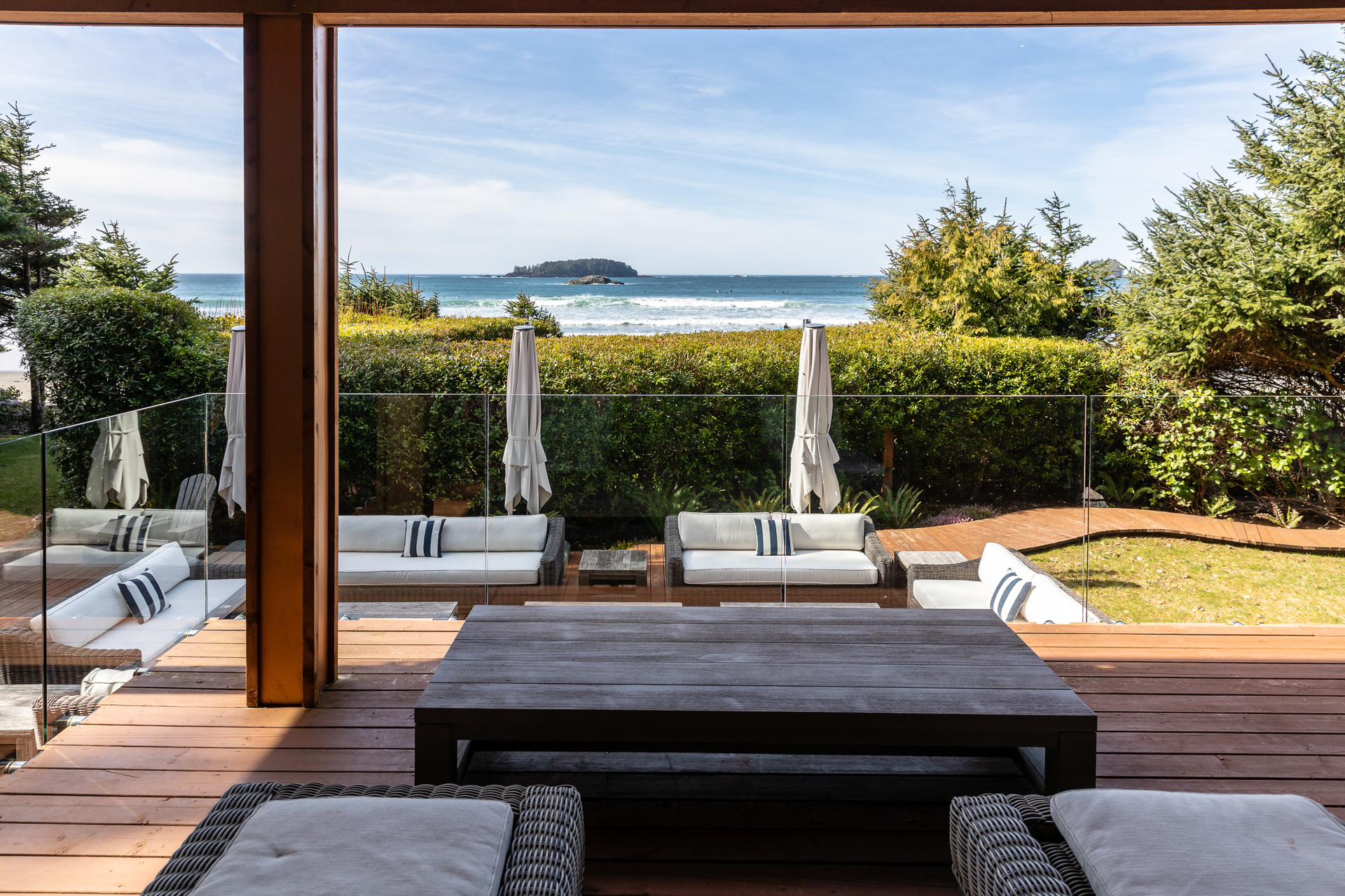 Views From The Ground Floor Sundeck at 1277 & 1281 Lynn Road, Tofino Tofino, Vancouver Island