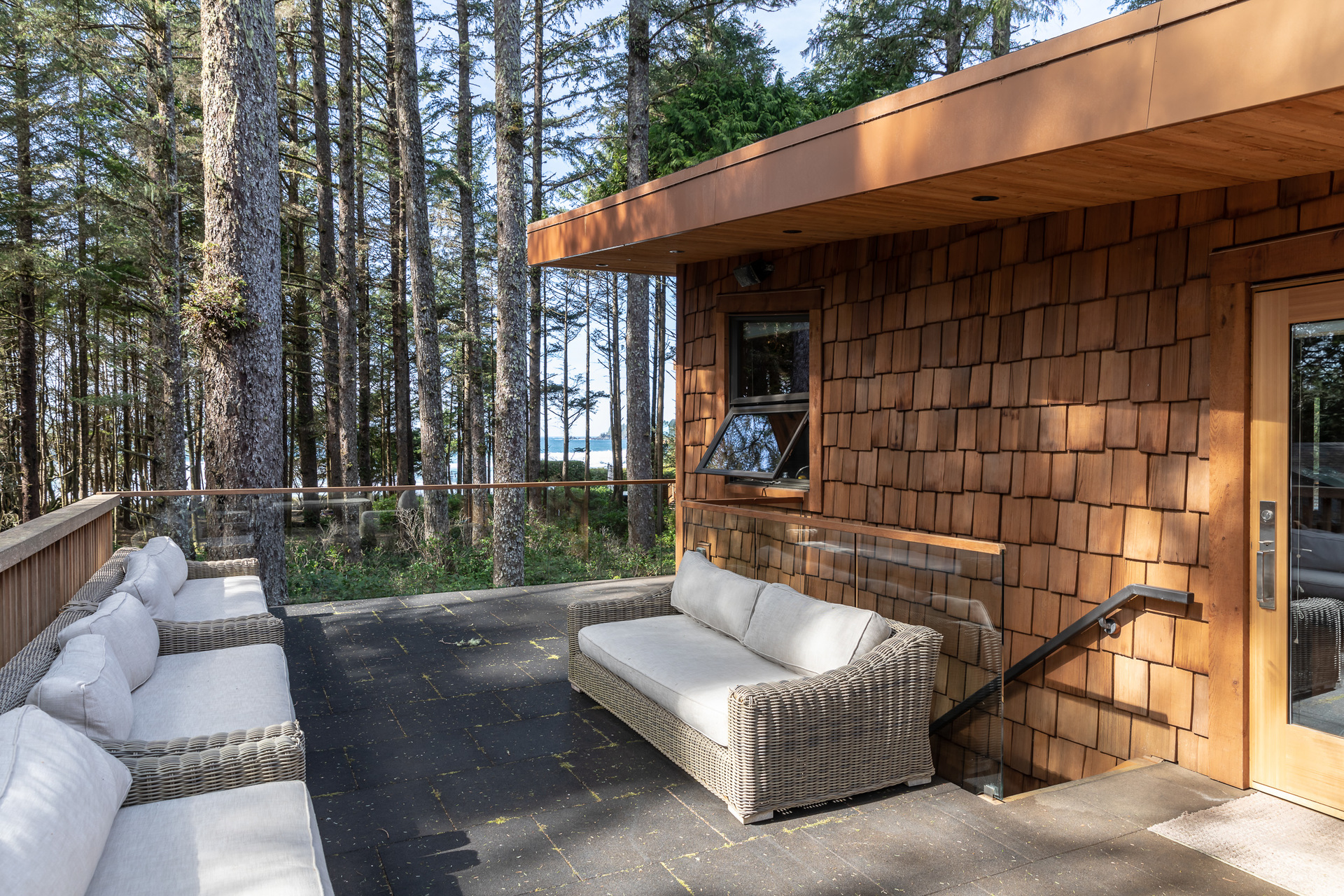 Guest House Sundeck at 1277 & 1281 Lynn Road, Tofino, Vancouver Island