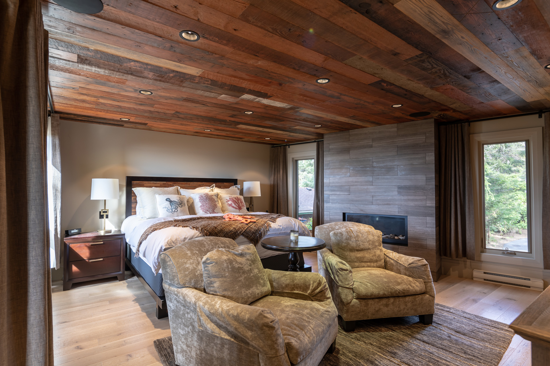 Master Bedroom at 1277 & 1281 Lynn Road, Tofino, Vancouver Island