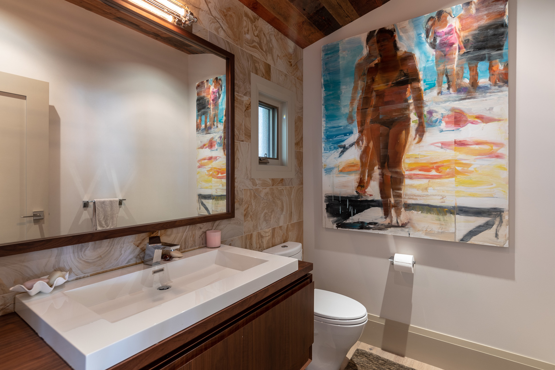 Main Upper Bathroom at 1277 & 1281 Lynn Road, Tofino, Vancouver Island