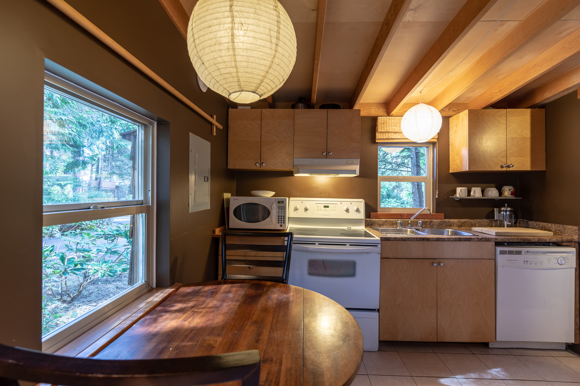 Cottage Kitchen at 1277 & 1281 Lynn Road, Tofino, Vancouver Island