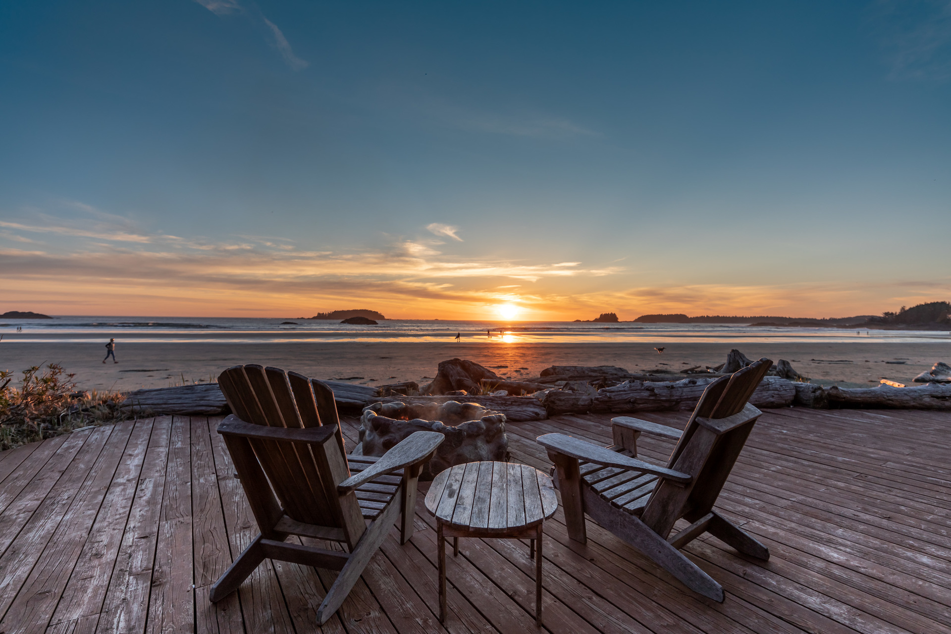 Chesterman Beach From The Firepit at 1277 & 1281 Lynn Road, Tofino, Vancouver Island