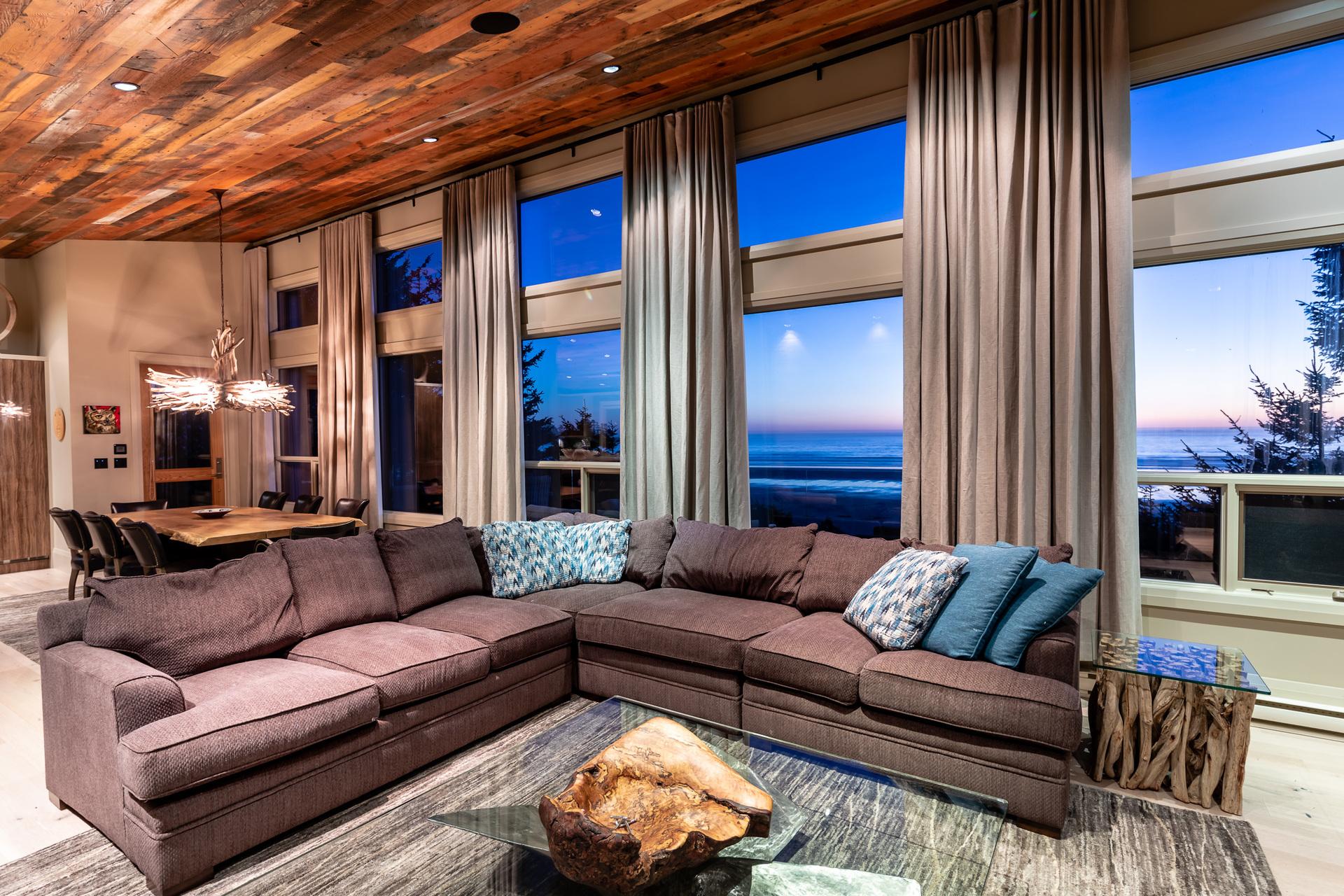 Main Residence Living Room at 1277 & 1281 Lynn Road, Tofino Tofino, Vancouver Island