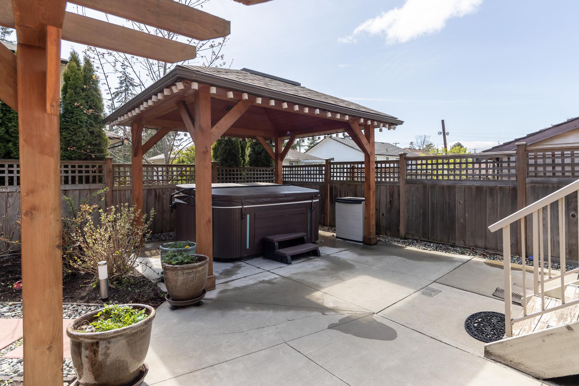Backyard Hot Tub at 745 Miller Avenue, Royal Oak, Saanich West