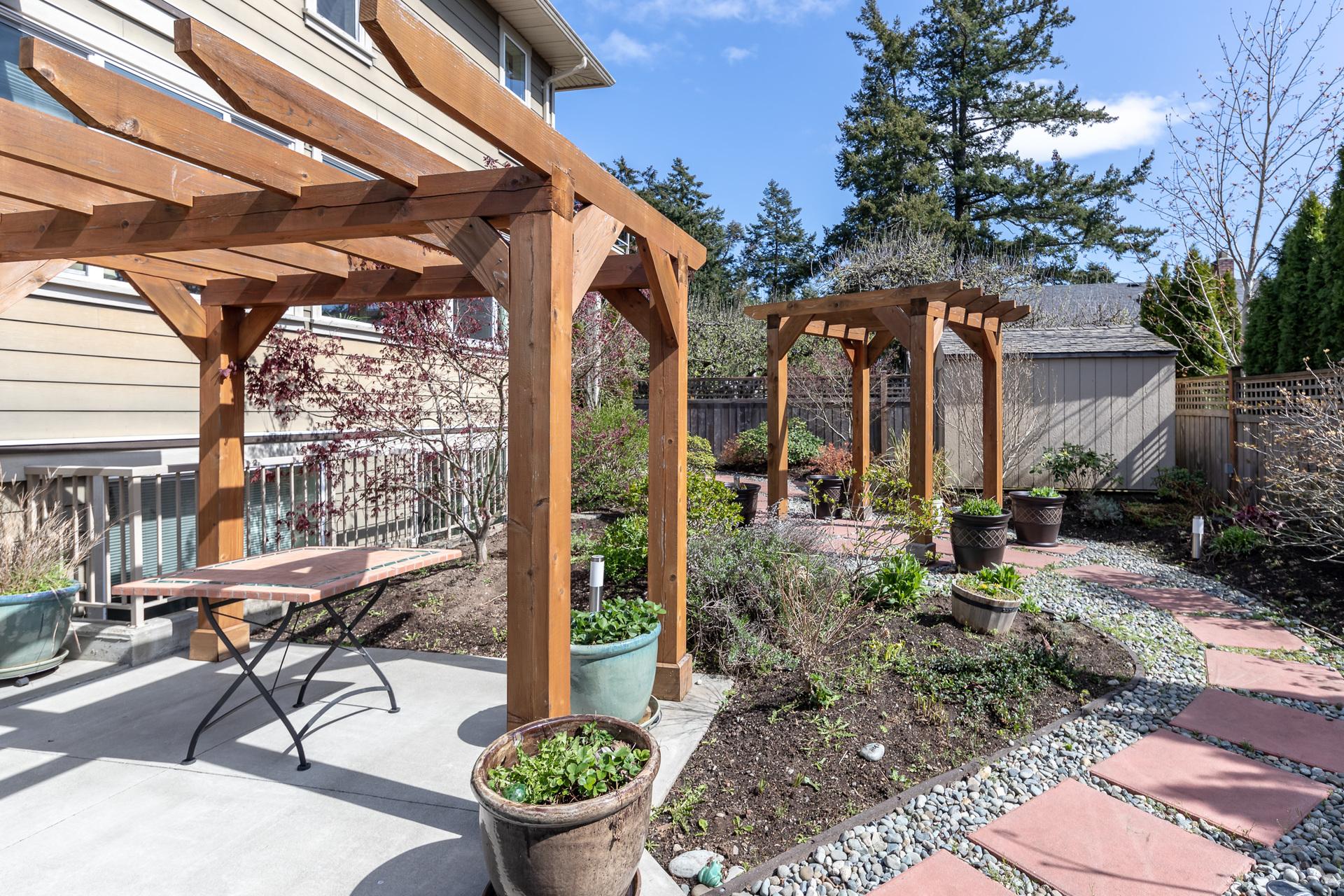 Backyard at 745 Miller Avenue, Royal Oak, Saanich West