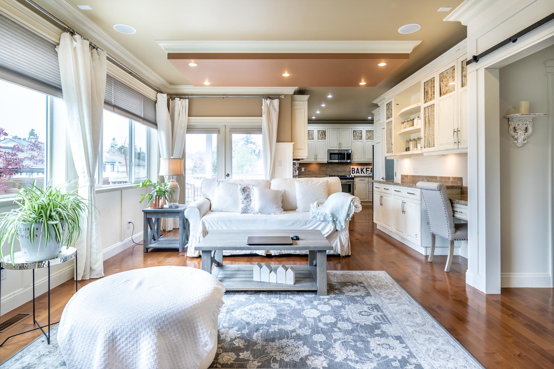 Main Floor Living Room at 745 Miller Avenue, Royal Oak, Saanich West