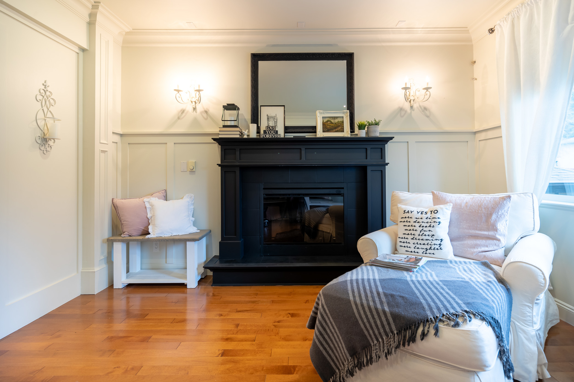 Main Floor Sitting Room at 745 Miller Avenue, Royal Oak, Saanich West