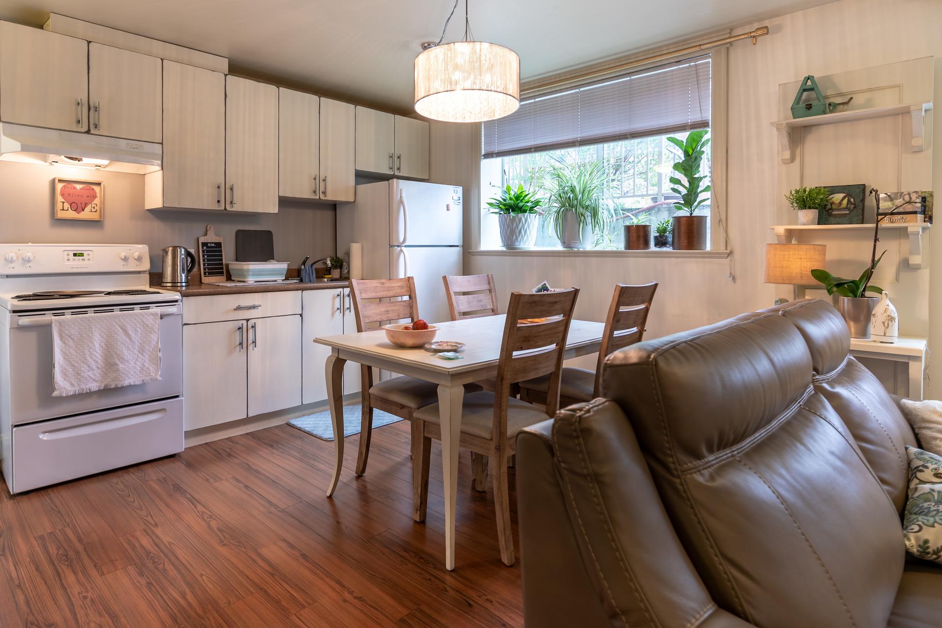 In-Law Suite Kitchen & Living Room at 745 Miller Avenue, Royal Oak, Saanich West