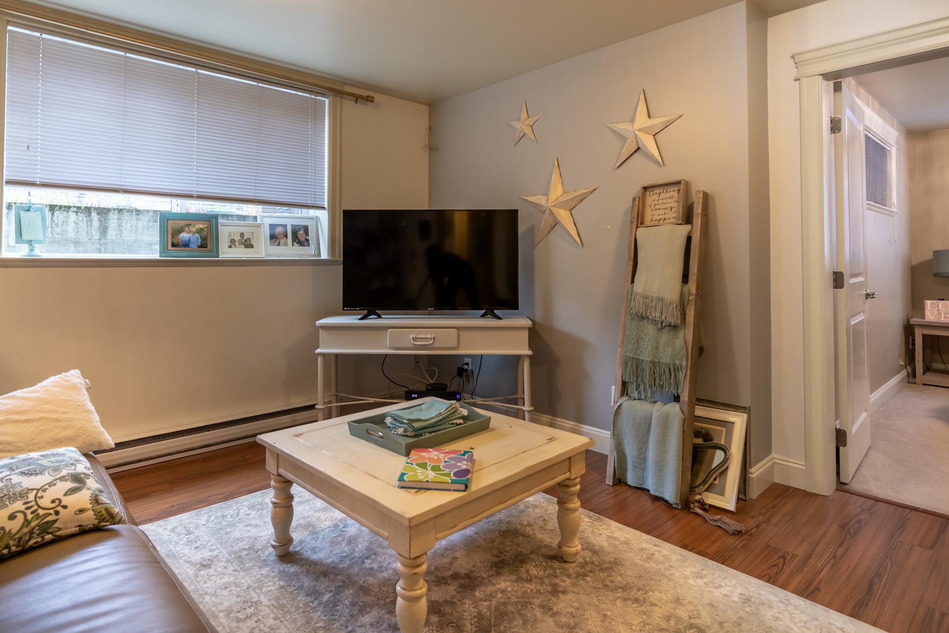 In-Law Suite Living Room at 745 Miller Avenue, Royal Oak, Saanich West
