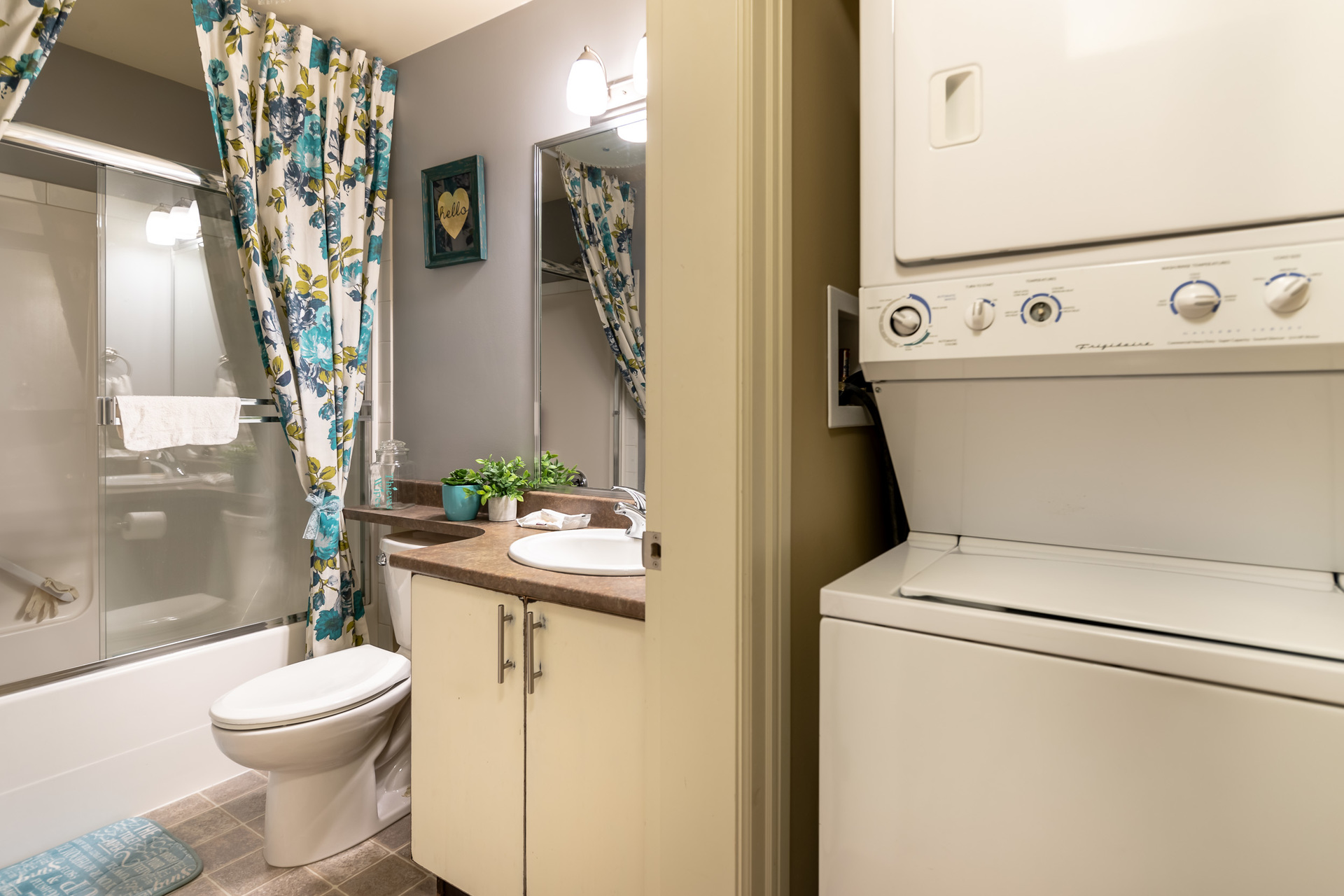 In-Law Suite Bathroom & Laundry Area at 745 Miller Avenue, Royal Oak, Saanich West