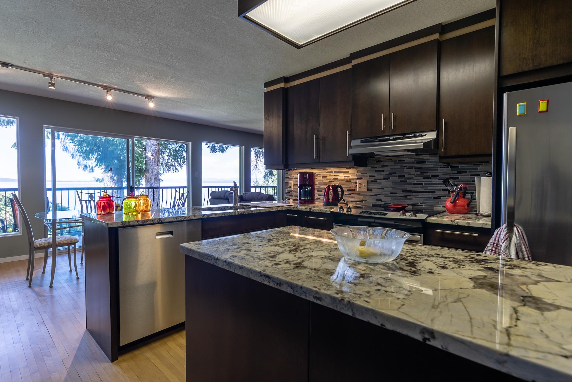 Upper Guest Suite Kitchen at 5101 Island Highway West, Qualicum Beach, Zone 05 - Parksville/Qualicum