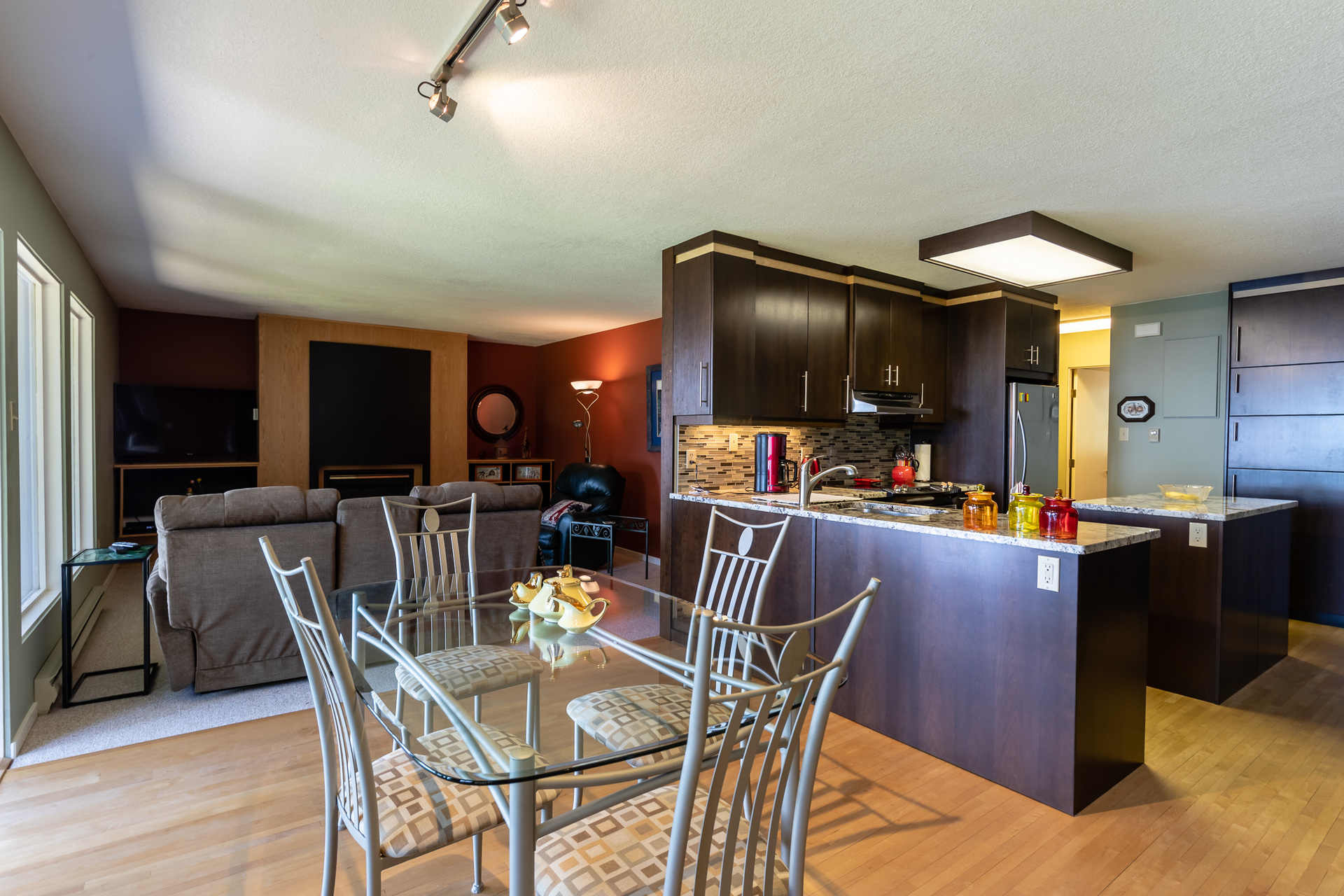 Upper Guest Suite Dining Area at 5101 Island Highway West, Qualicum Beach, Zone 05 - Parksville/Qualicum