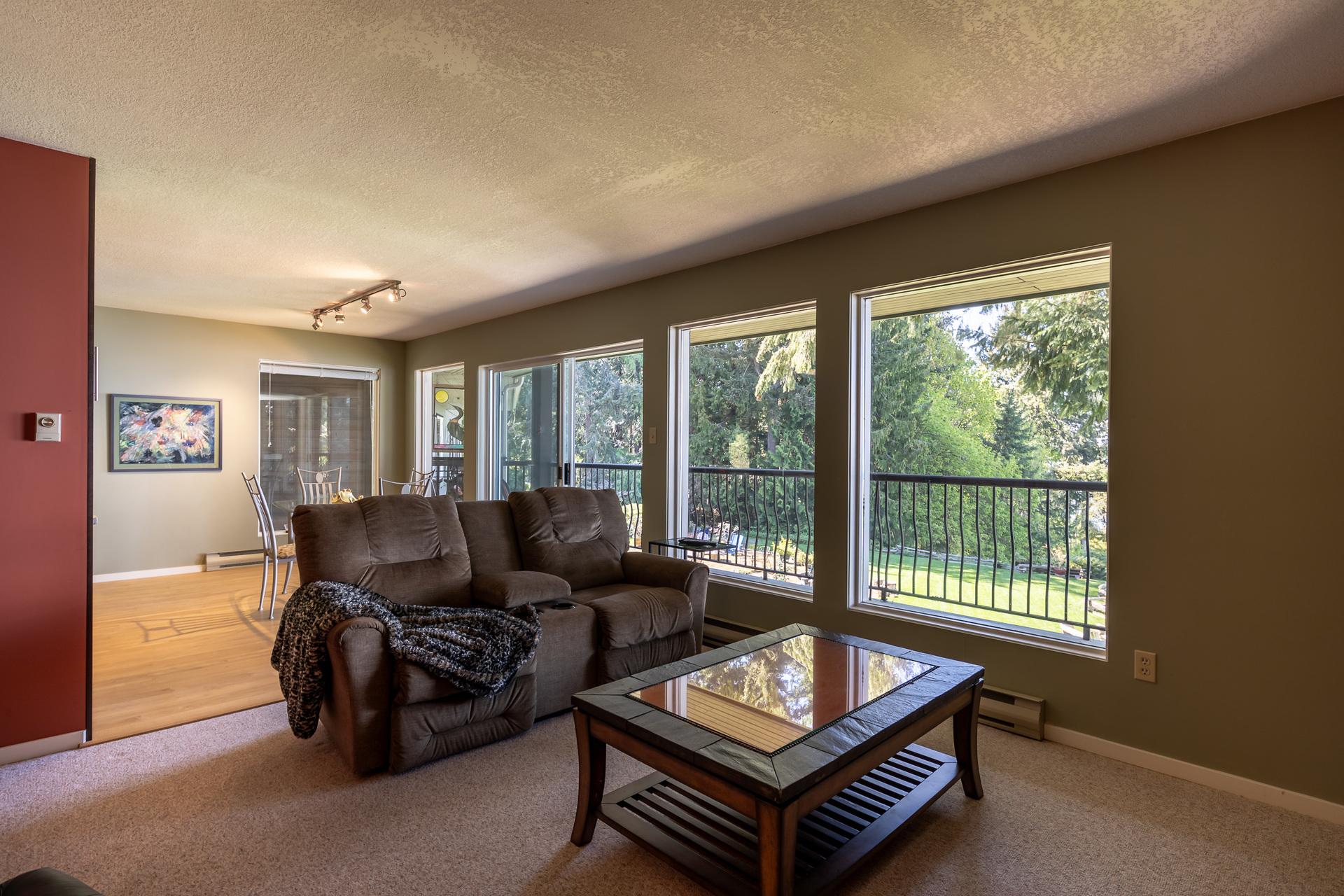 Upper Guest Suite Living Room at 5101 Island Highway West, Qualicum Beach, Zone 05 - Parksville/Qualicum