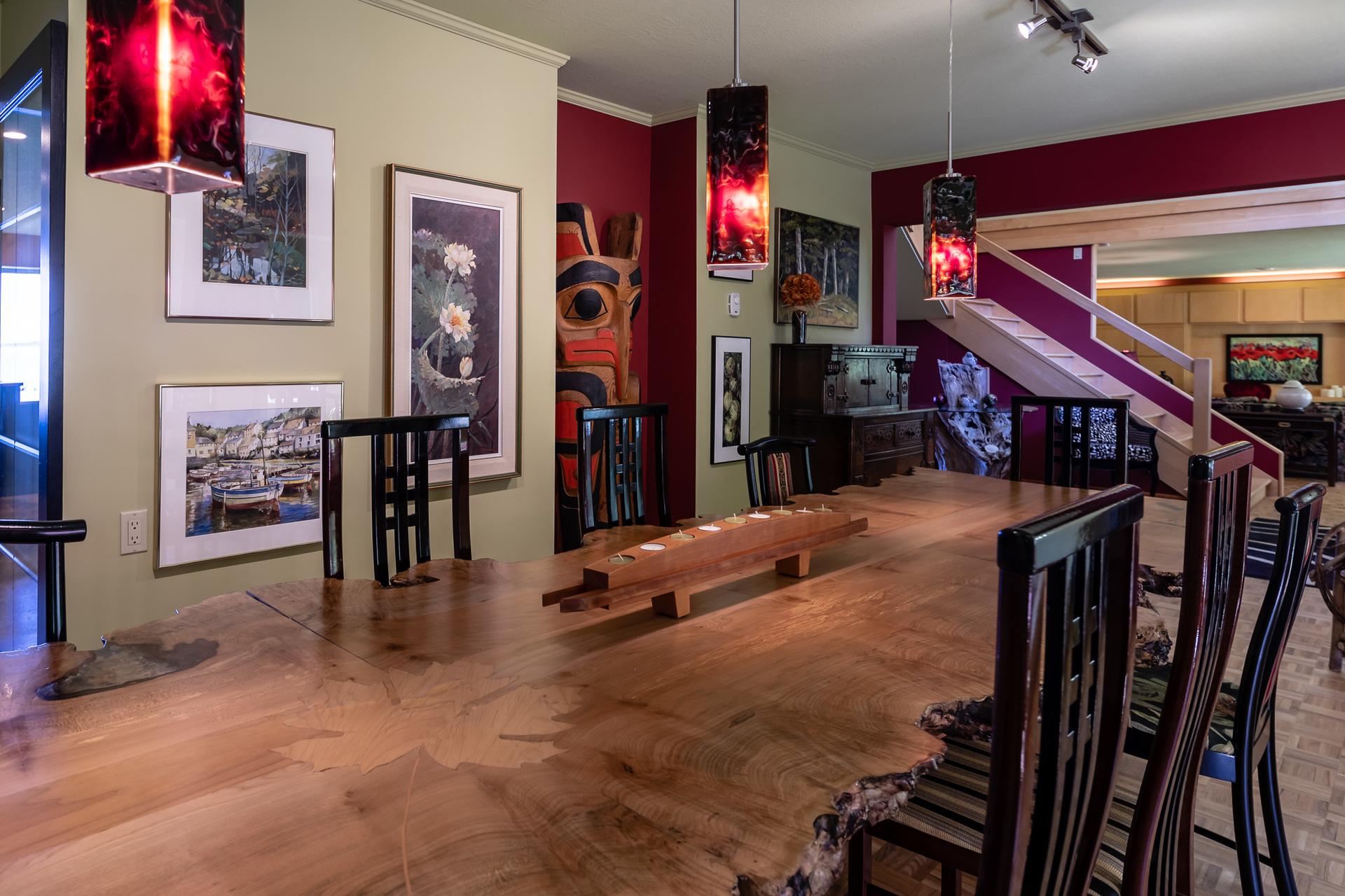 Main Ground Floor Dining Room at 5101 Island Highway West, Qualicum Beach, Zone 05 - Parksville/Qualicum