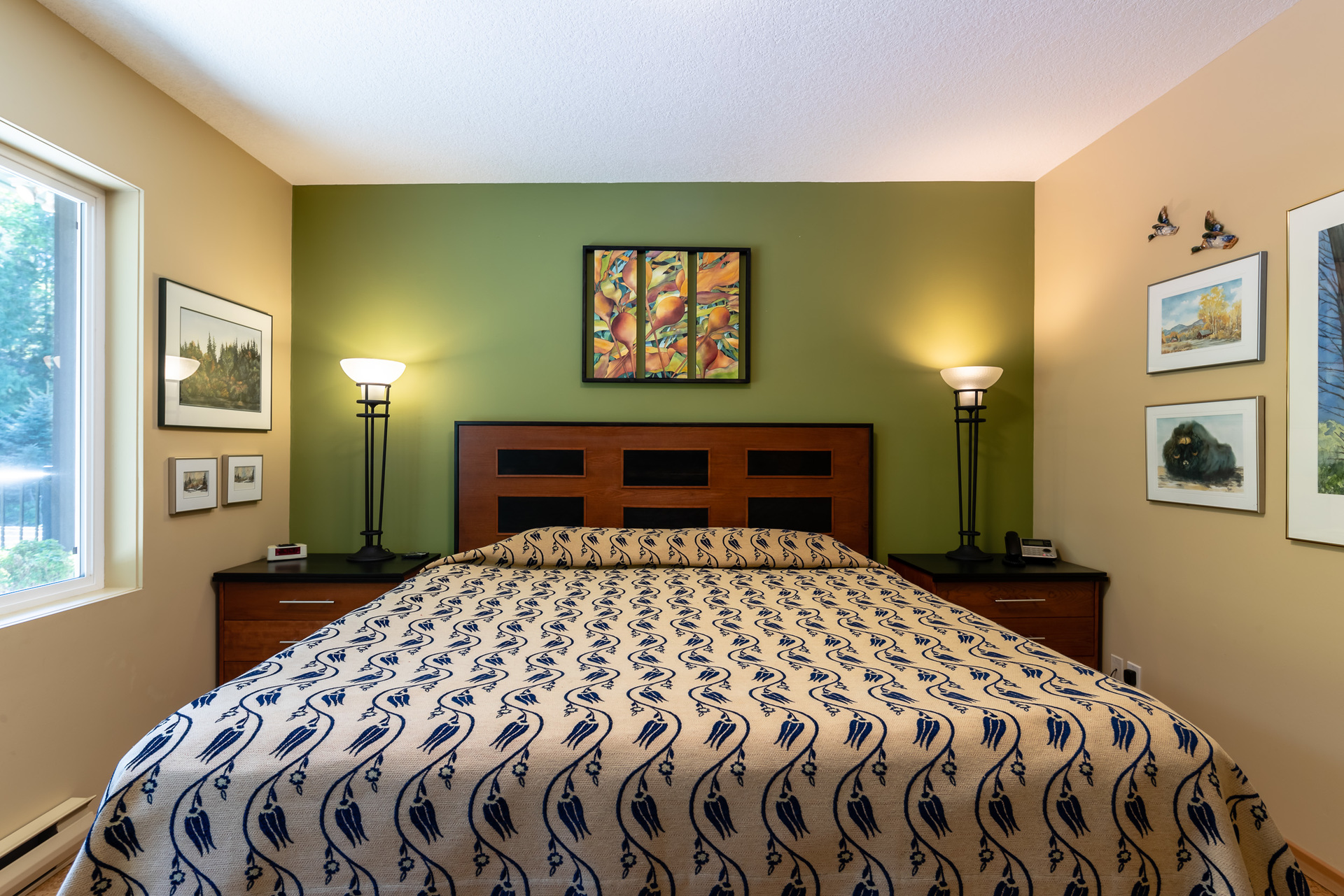 First Master Suite Bedroom at 5101 Island Highway West, Qualicum Beach, Zone 05 - Parksville/Qualicum