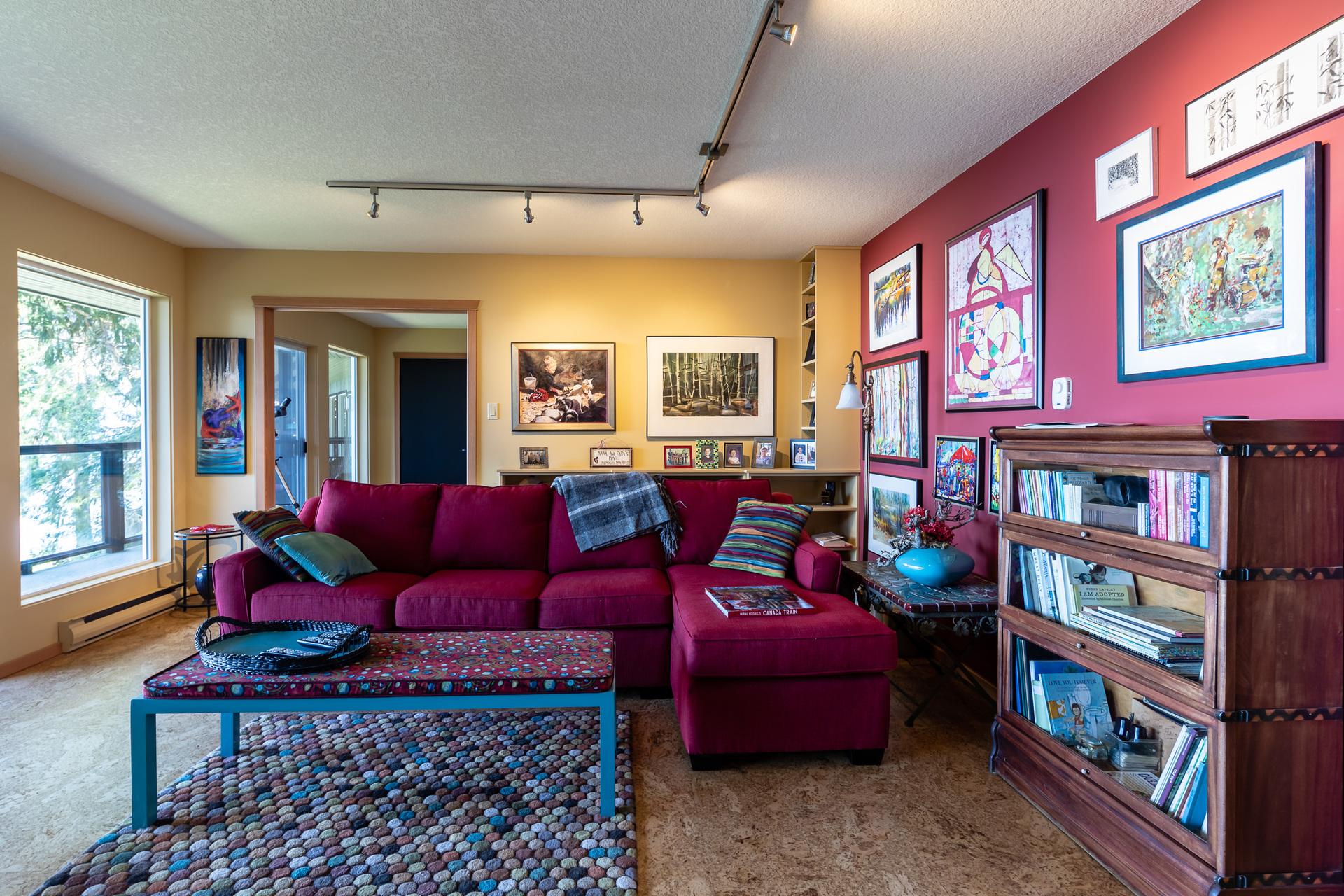 Second Master Suite Living Room at 5101 Island Highway West, Qualicum Beach, Zone 05 - Parksville/Qualicum