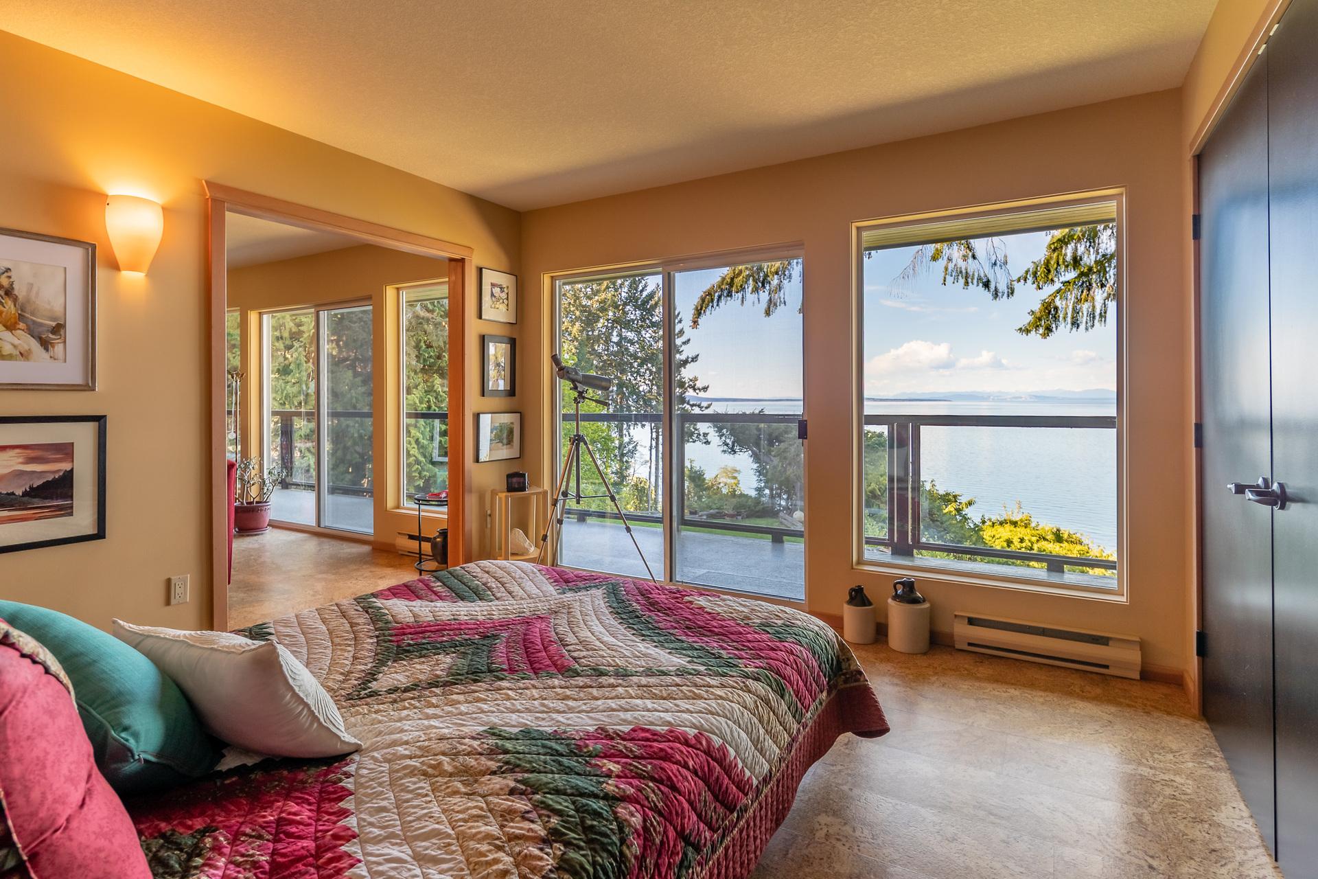 Second Master Suite Bedroom at 5101 Island Highway West, Qualicum Beach, Zone 05 - Parksville/Qualicum