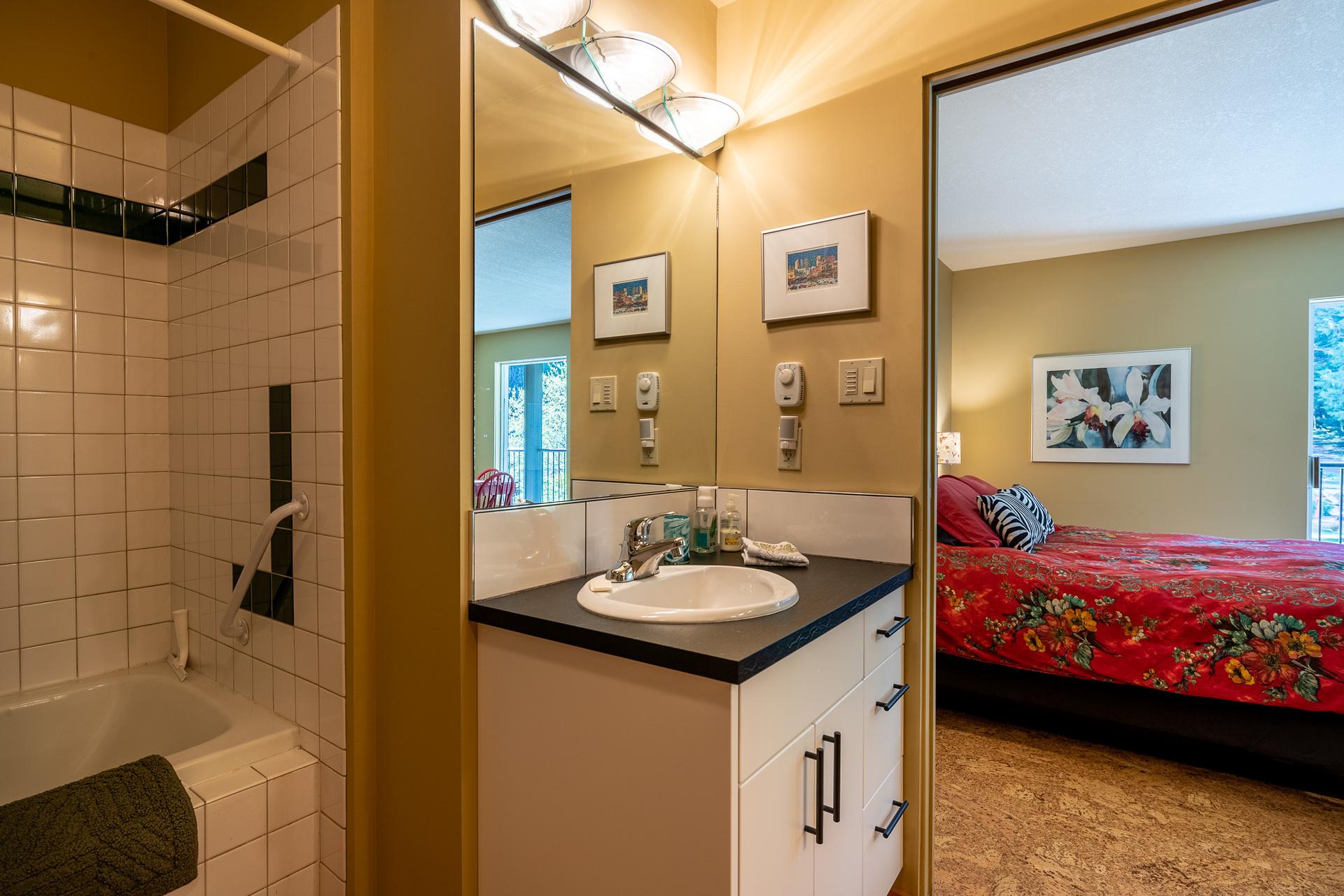 Second Master Suite Guest Bathroom at 5101 Island Highway West, Qualicum Beach, Zone 05 - Parksville/Qualicum