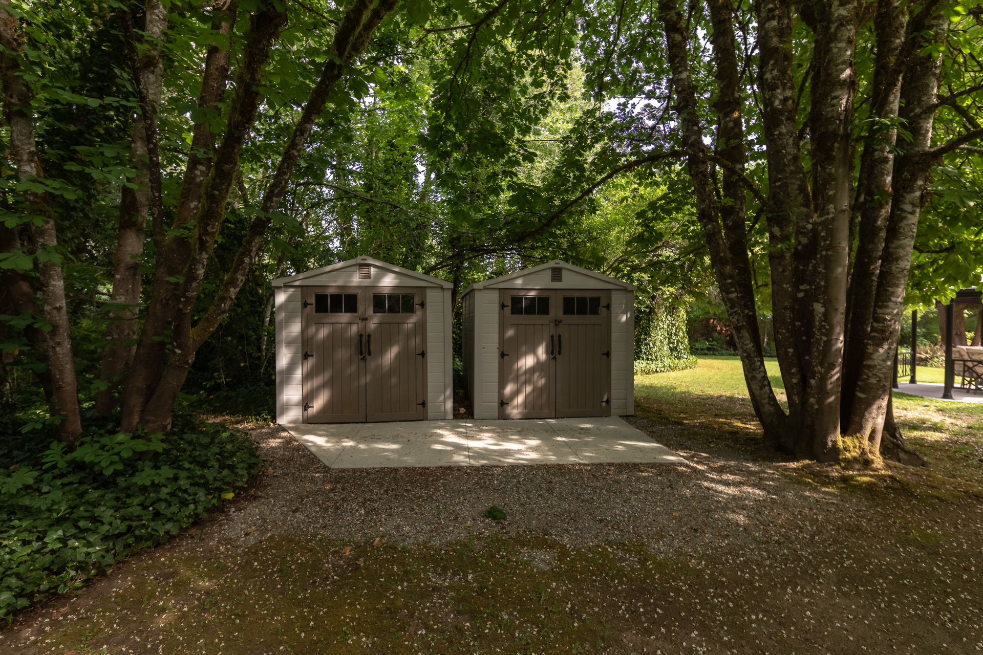 Garden sheds at 5895 River Road, Port Alberni, Vancouver Island