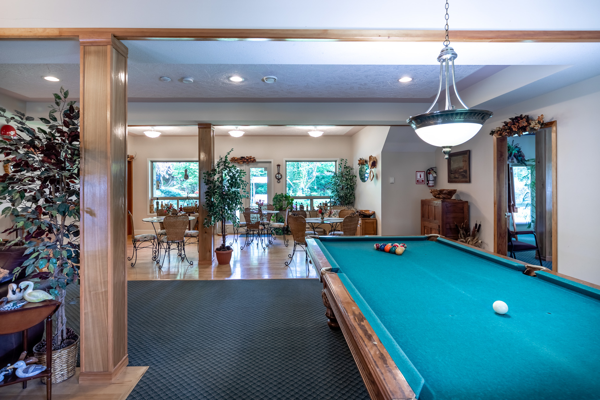Billiards Area at 5895 River Road, Port Alberni, Vancouver Island