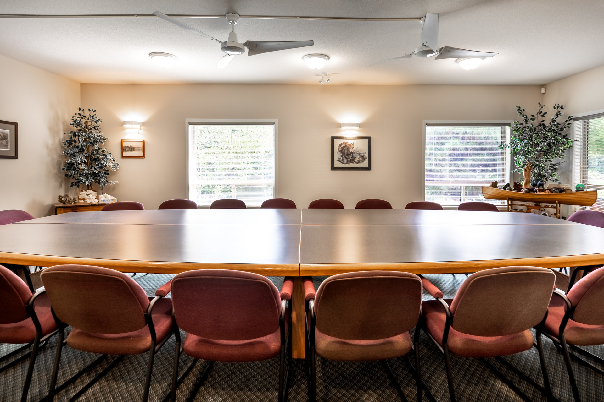 Conference Room at 5895 River Road, Port Alberni, Vancouver Island