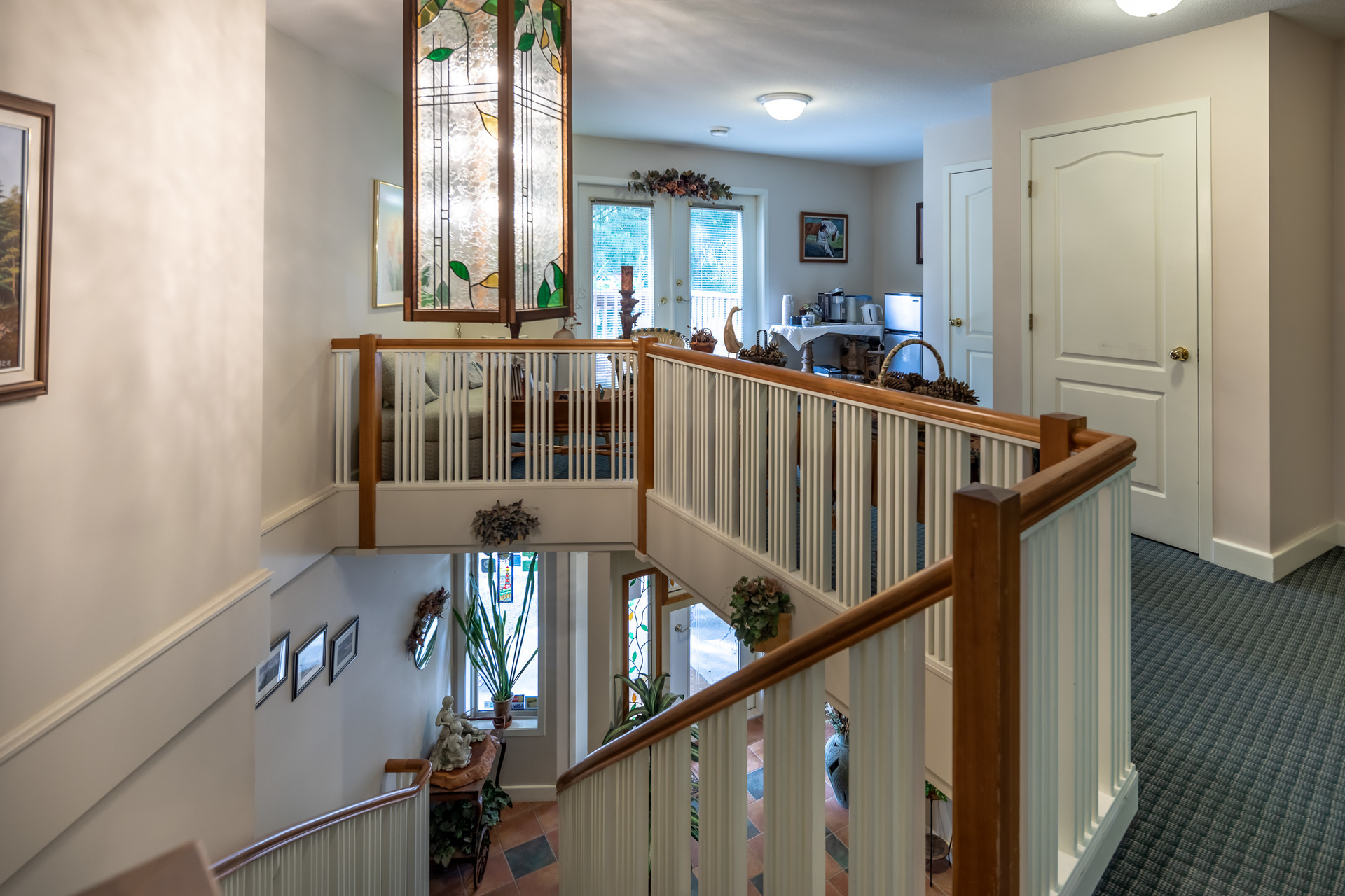 Stairs To Suites at 5895 River Road, Port Alberni, Vancouver Island