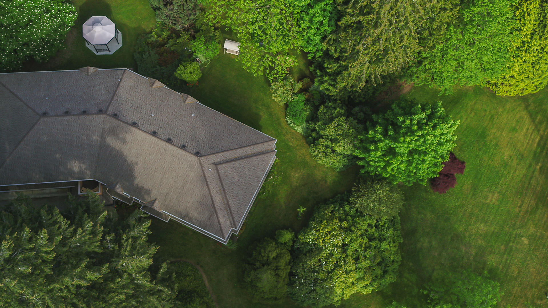Aerial View Of The Inn at 5895 River Road, Port Alberni, Vancouver Island