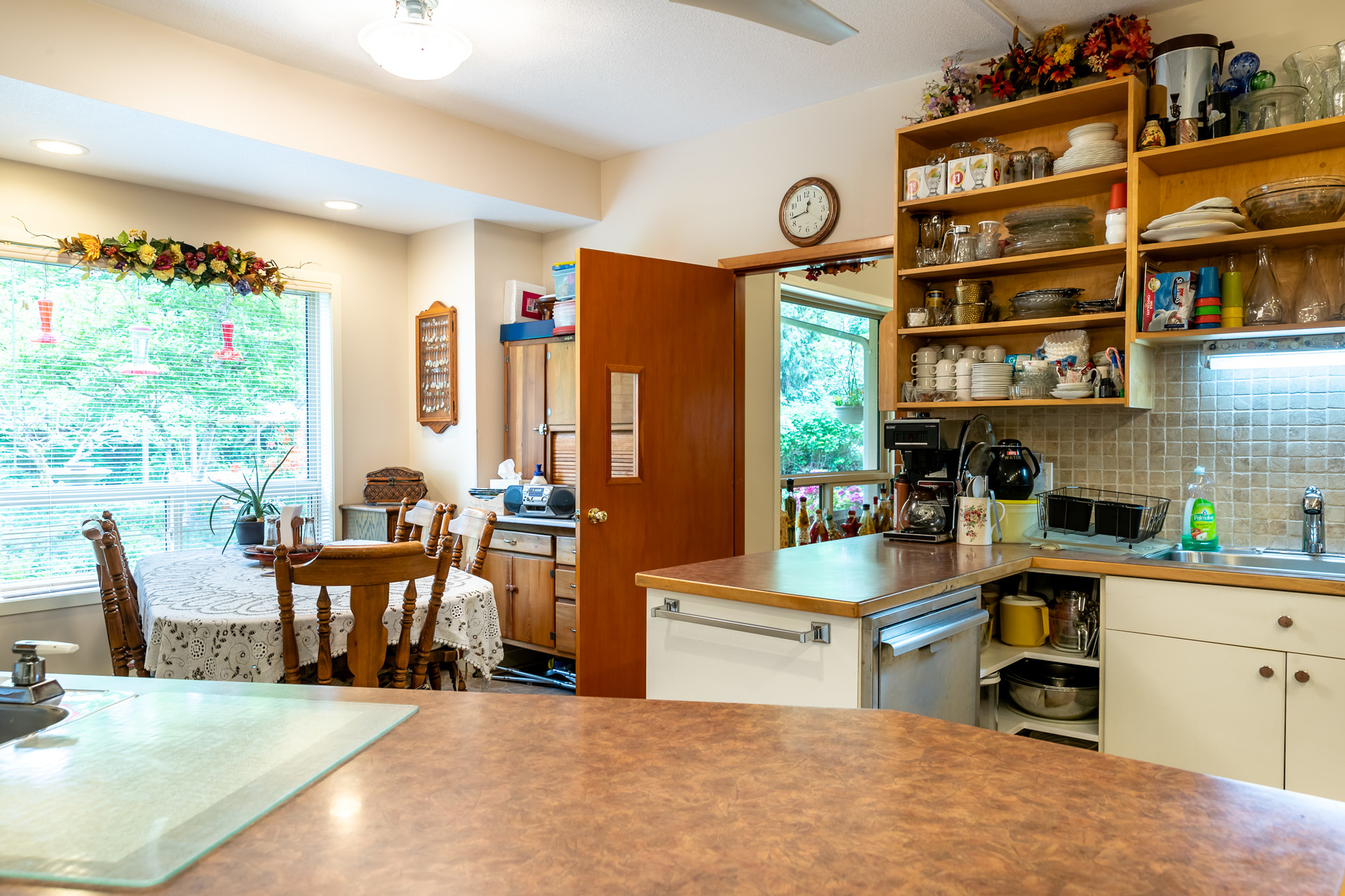 Kitchen at 5895 River Road, Port Alberni, Vancouver Island