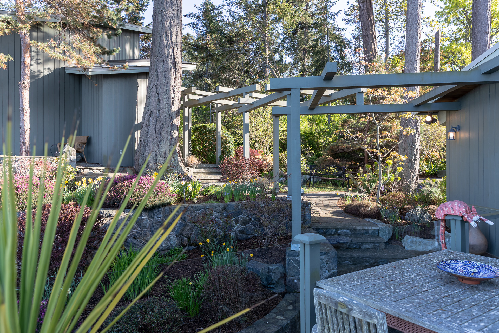 Path From Main House To Guesthouse at 4855 Major Road, Cordova Bay, Saanich East