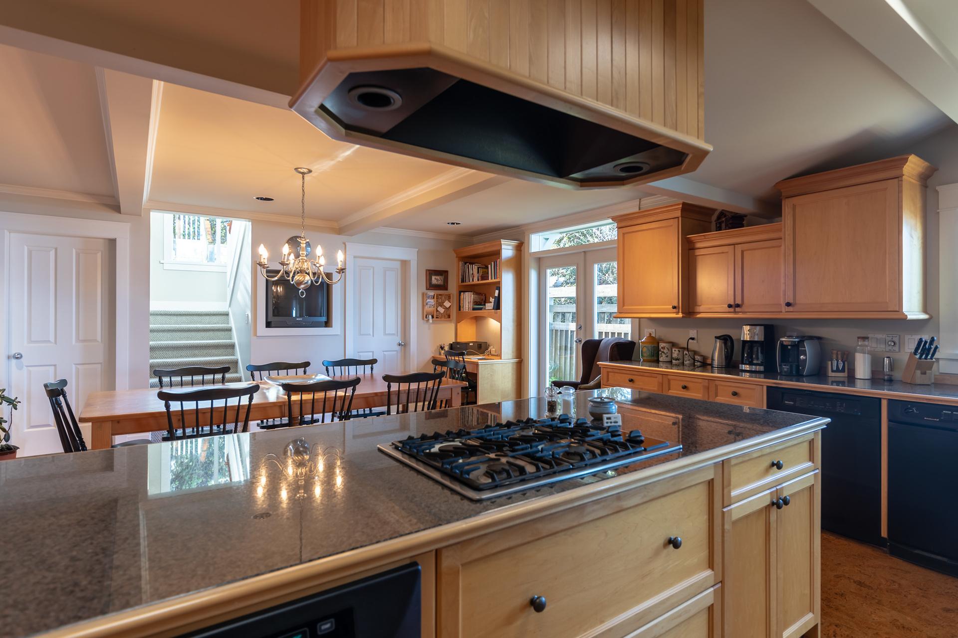 Main House Kitchen at 4855 Major Road, Cordova Bay, Saanich East