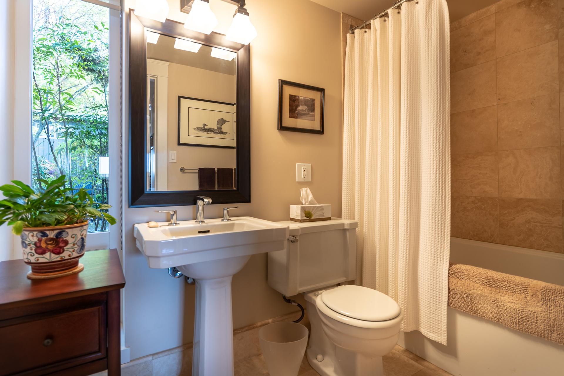 Guest House Bathroom at 4855 Major Road, Cordova Bay, Saanich East