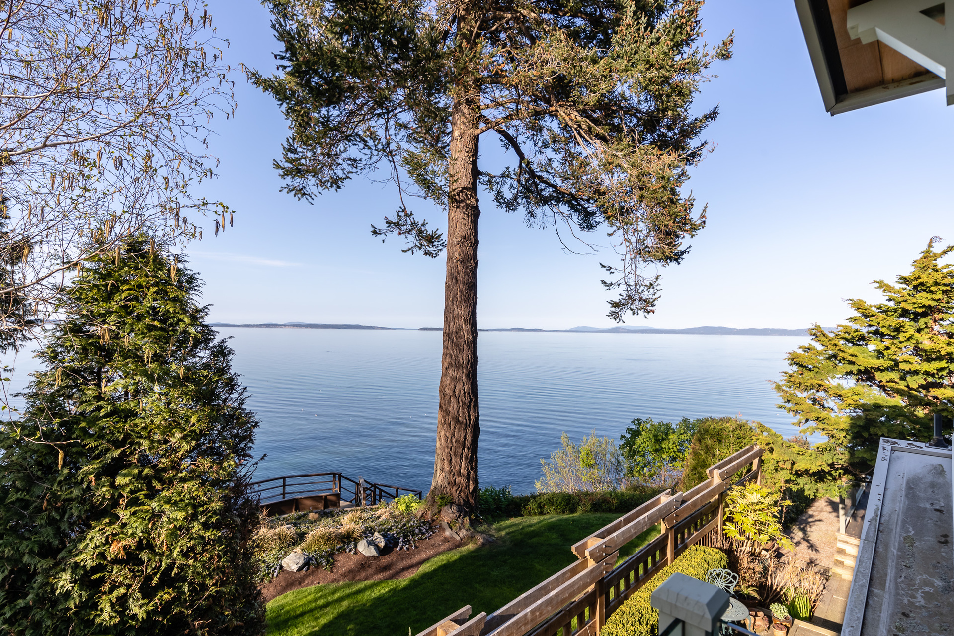 Ocean View From The Library Balcony at 4855 Major Road, Cordova Bay, Saanich East