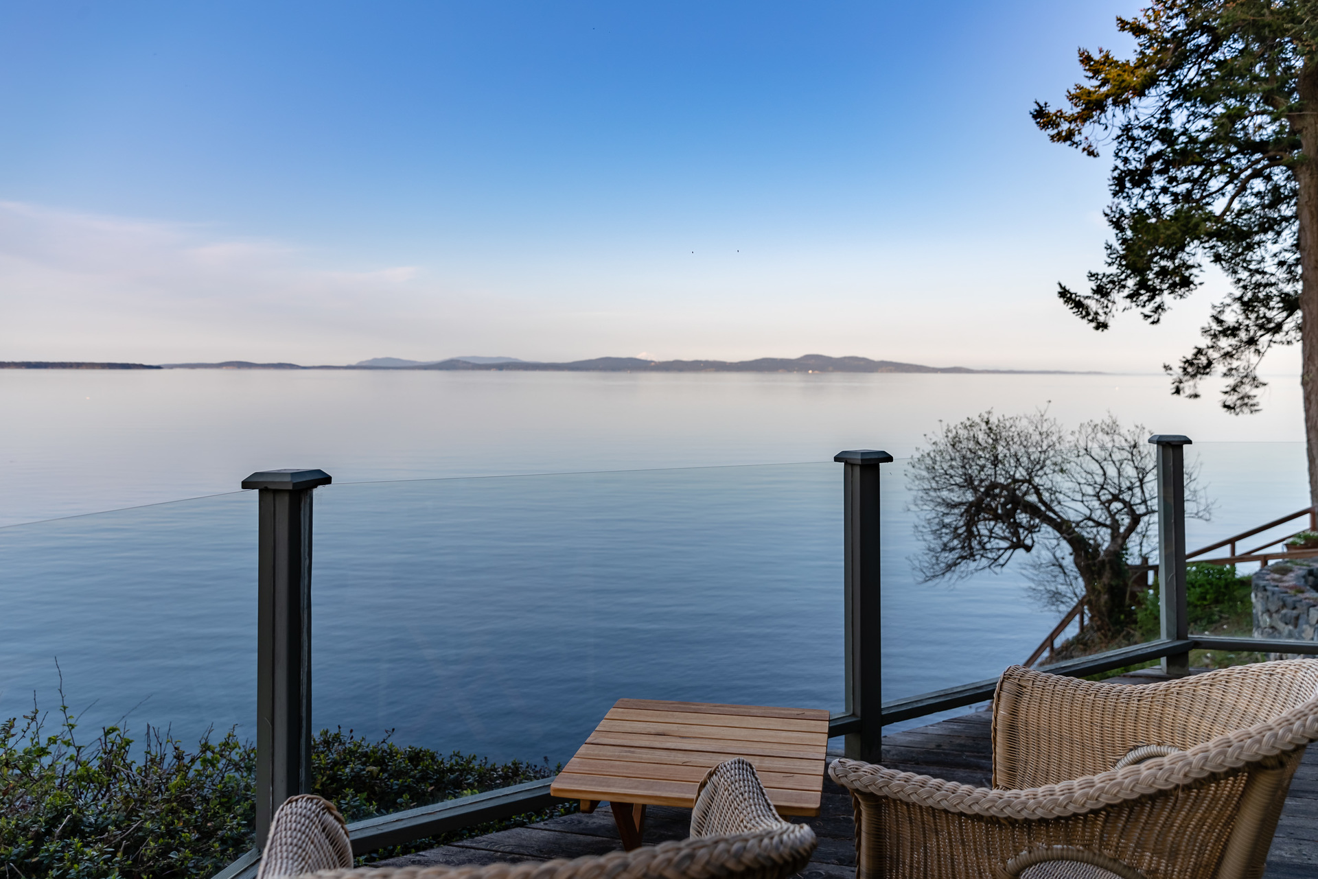 Views Of The Cascade Mountains at 4855 Major Road, Cordova Bay, Saanich East