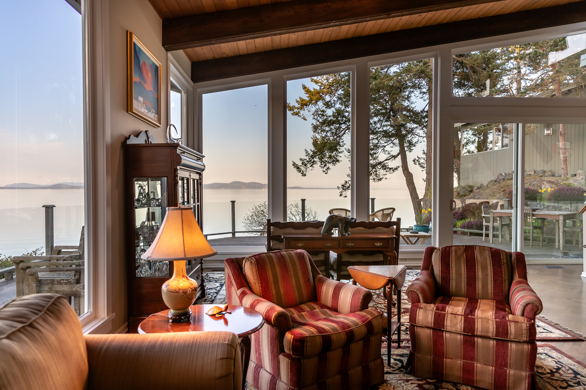 Ocean Views From The Living Room at 4855 Major Road, Cordova Bay, Saanich East