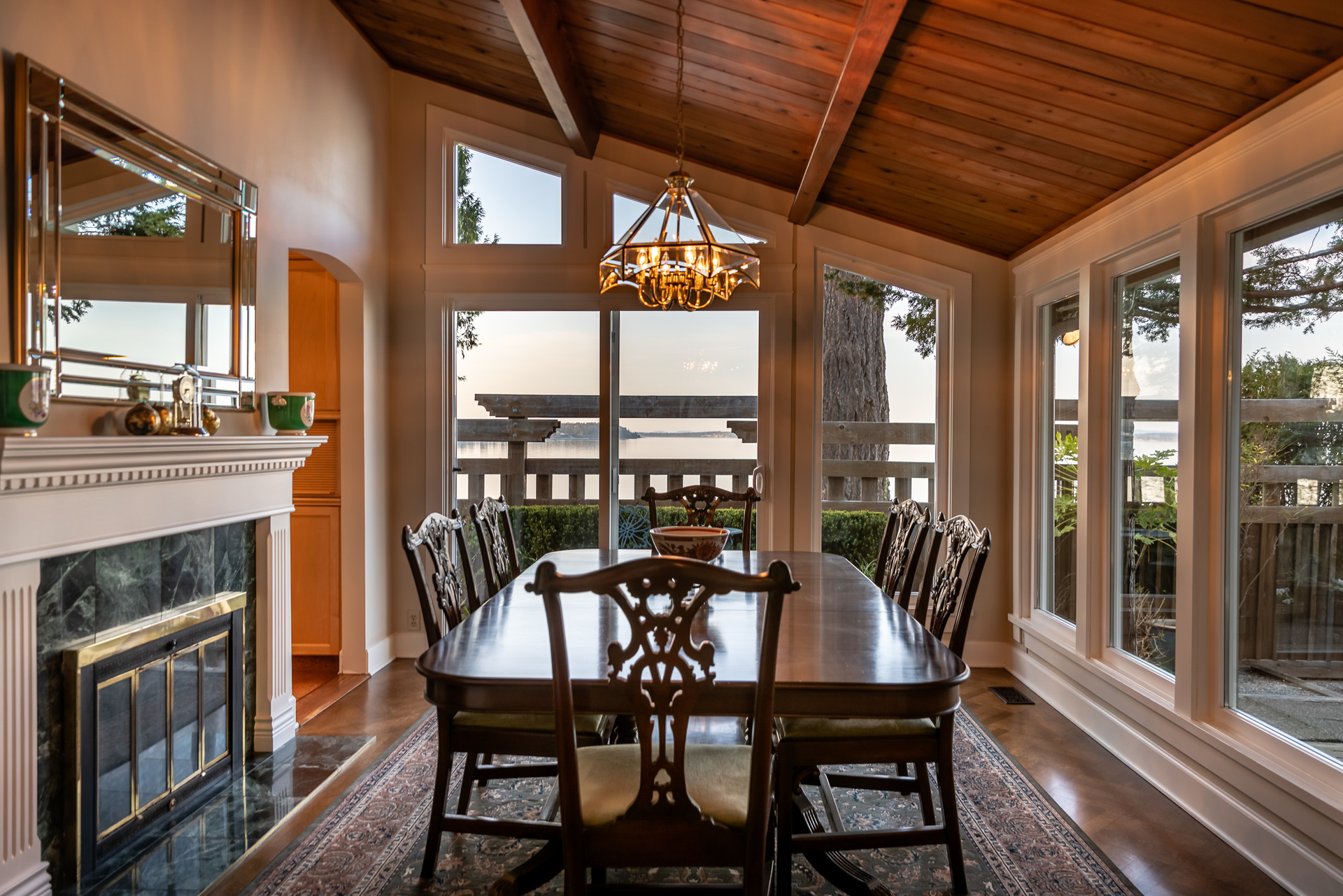 Main House Formal Dining Room at 4855 Major Road, Cordova Bay, Saanich East