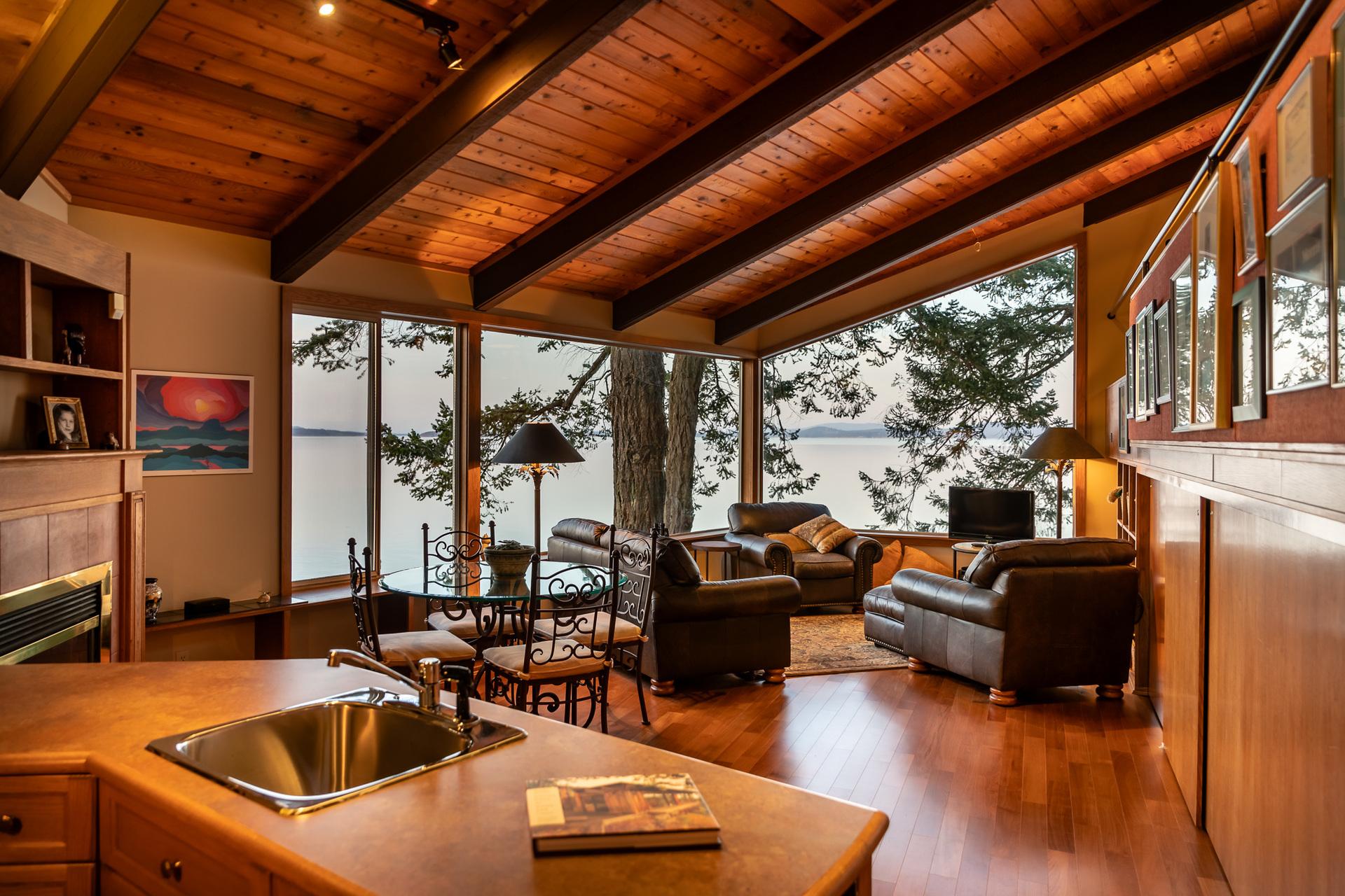 Hank Schubert Designed Guest House at 4855 Major Road, Cordova Bay, Saanich East