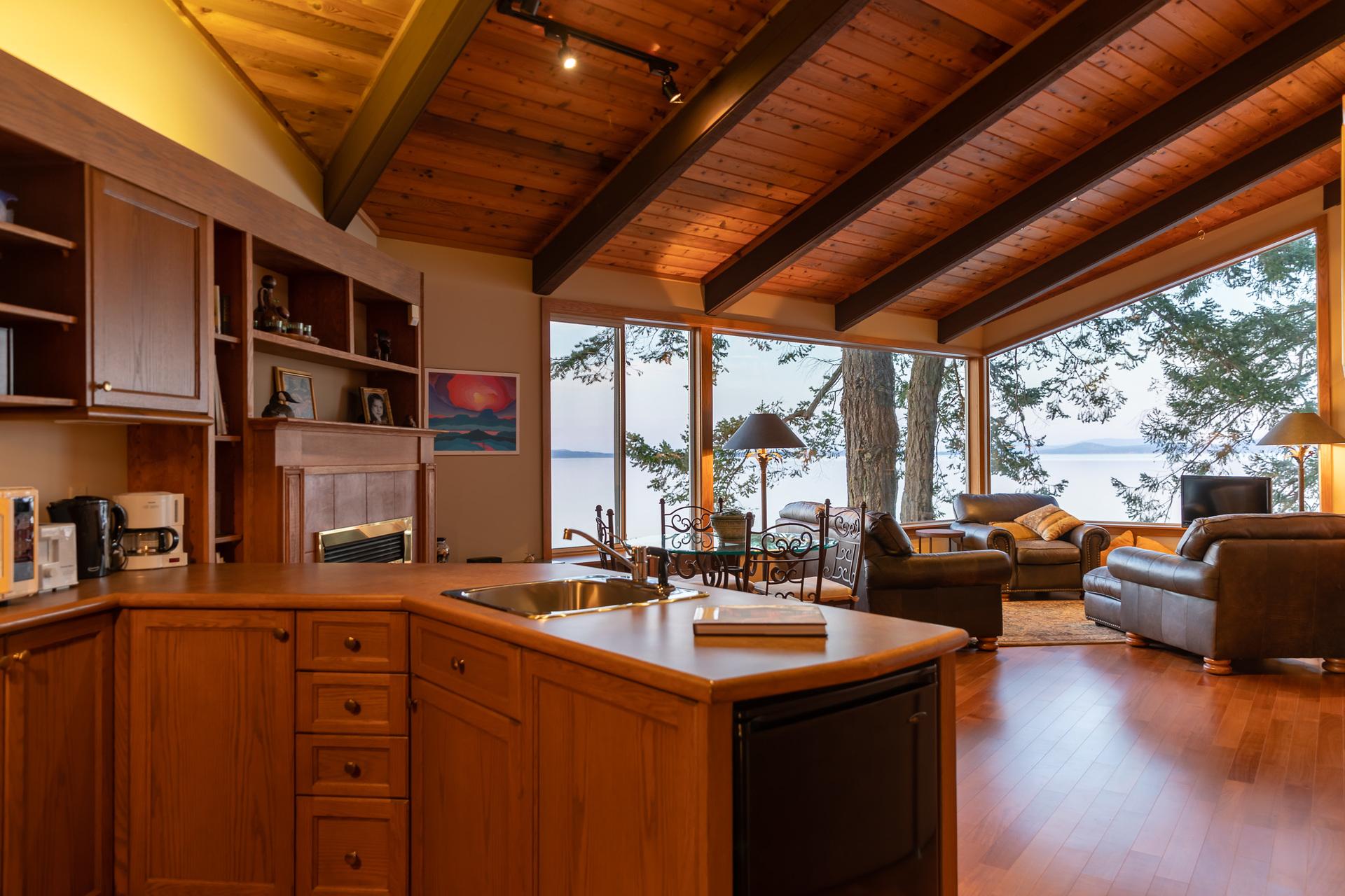 Open Concept Living Area at 4855 Major Road, Cordova Bay, Saanich East