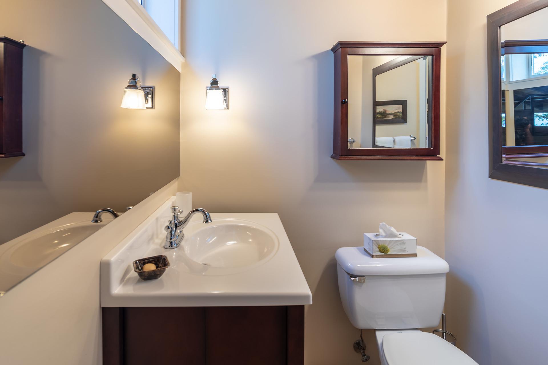Main House Guest Bathroom at 4855 Major Road, Cordova Bay, Saanich East