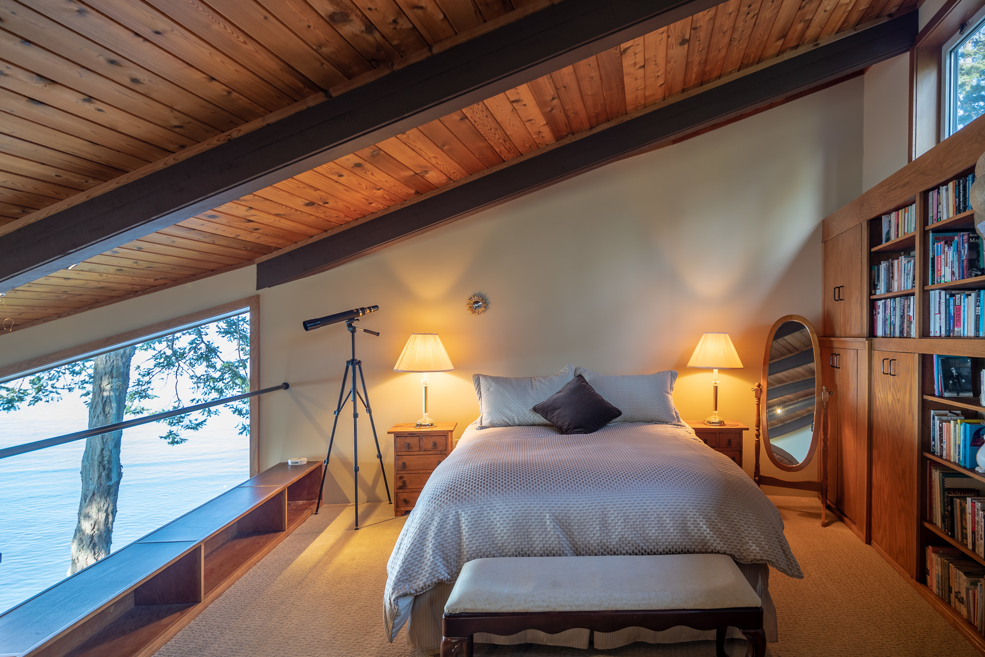Guest House Lofted Bedroom at 4855 Major Road, Cordova Bay, Saanich East