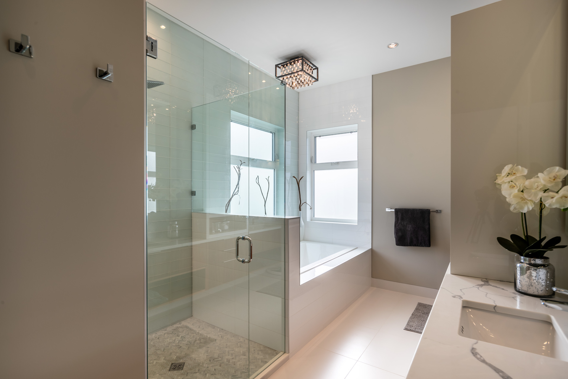 Five-Piece Master Ensuite at 5101 Jagtar's Way, Prospect Lake, Saanich West