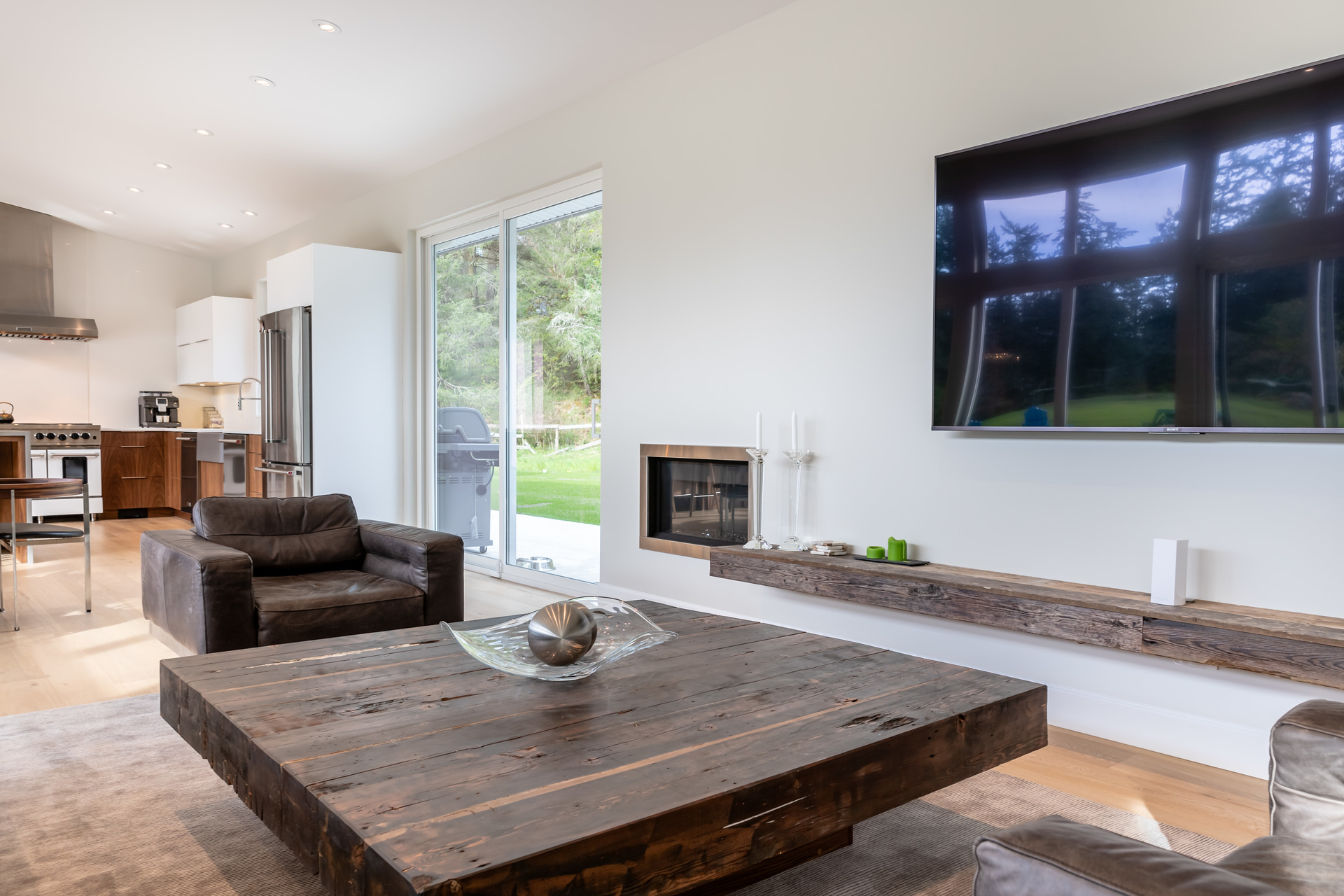 Sitting Area With Gas Fireplace at 5101 Jagtar's Way, Prospect Lake, Saanich West